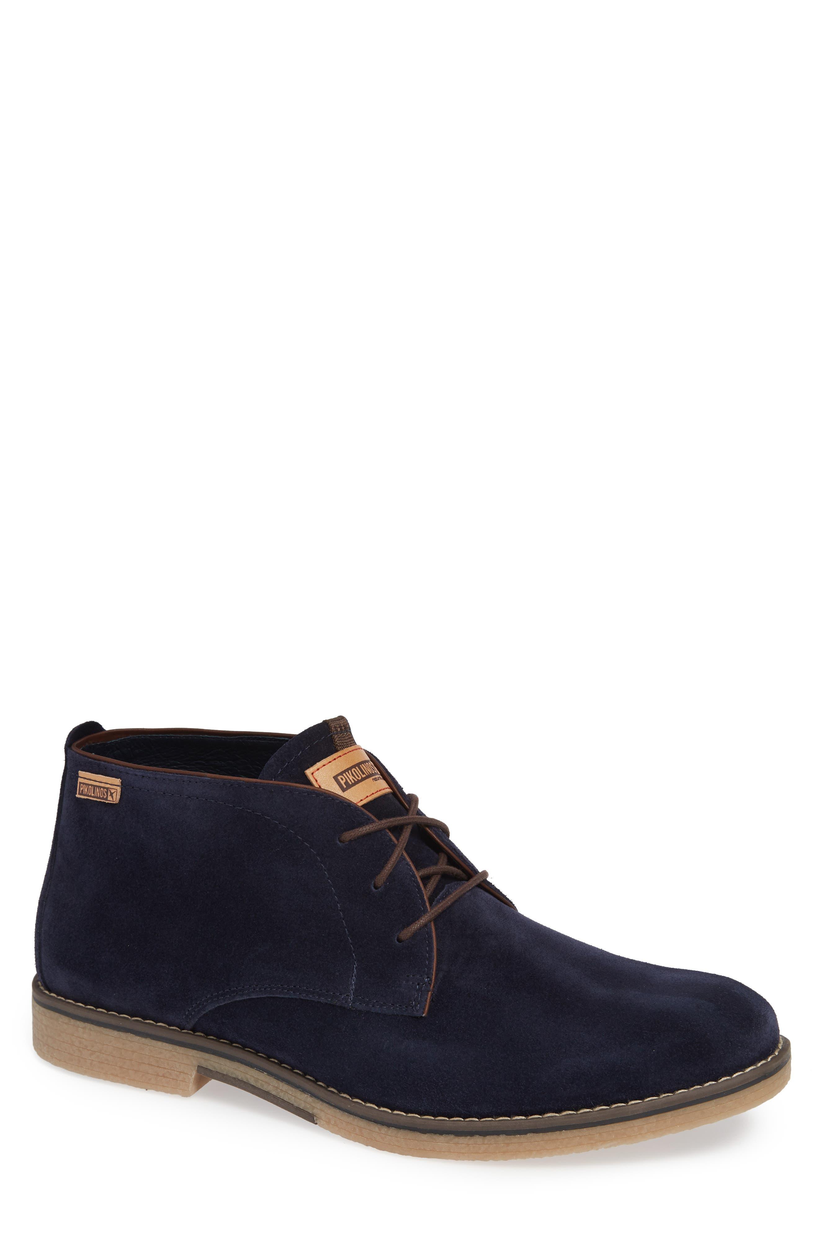 Irun Plain Toe Chukka Boot,                         Main,                         color, NAVY