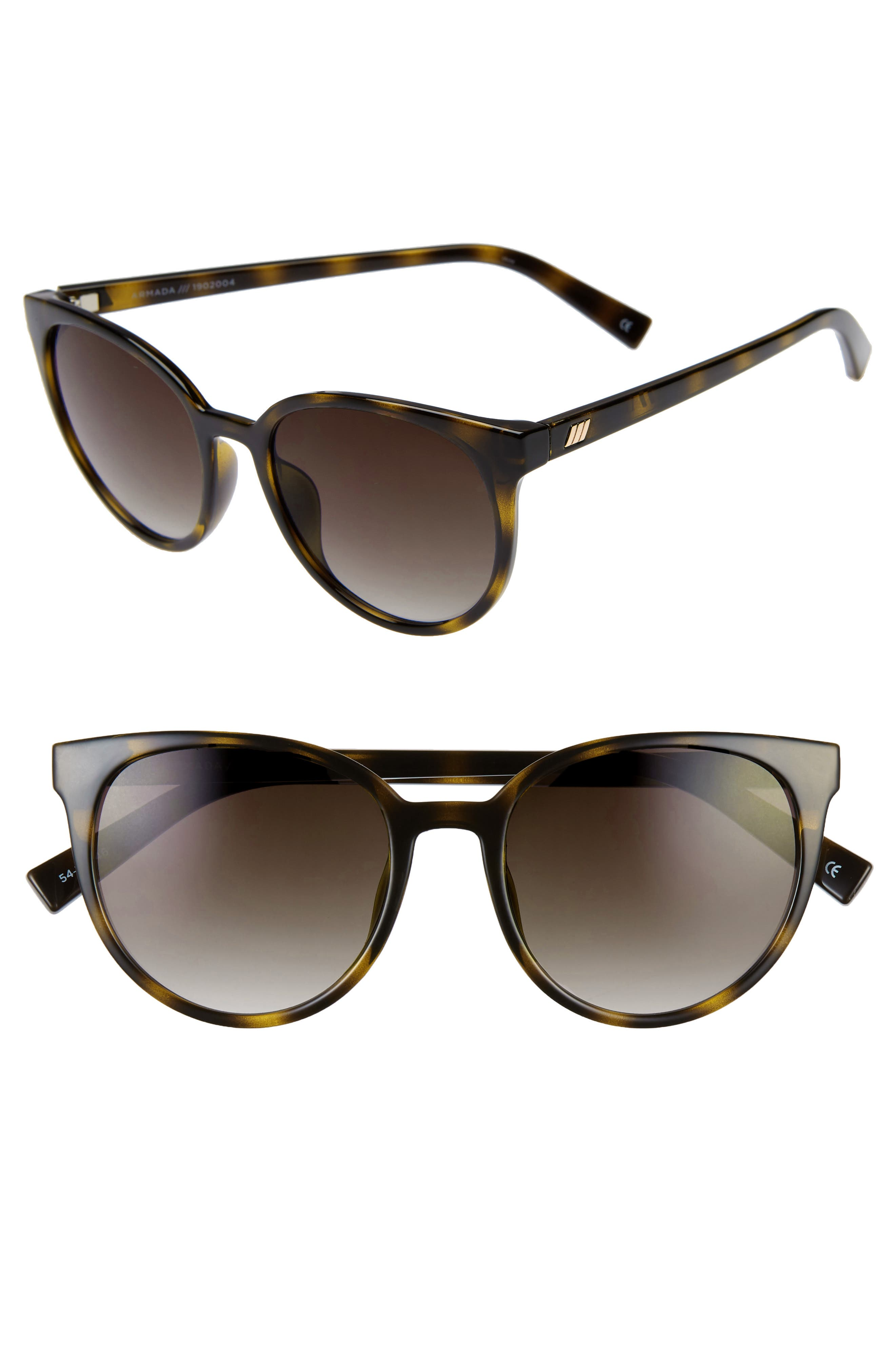 Le Specs Armada 5m Cat Eye Sunglasses - Tortoise/ Khaki Gradient