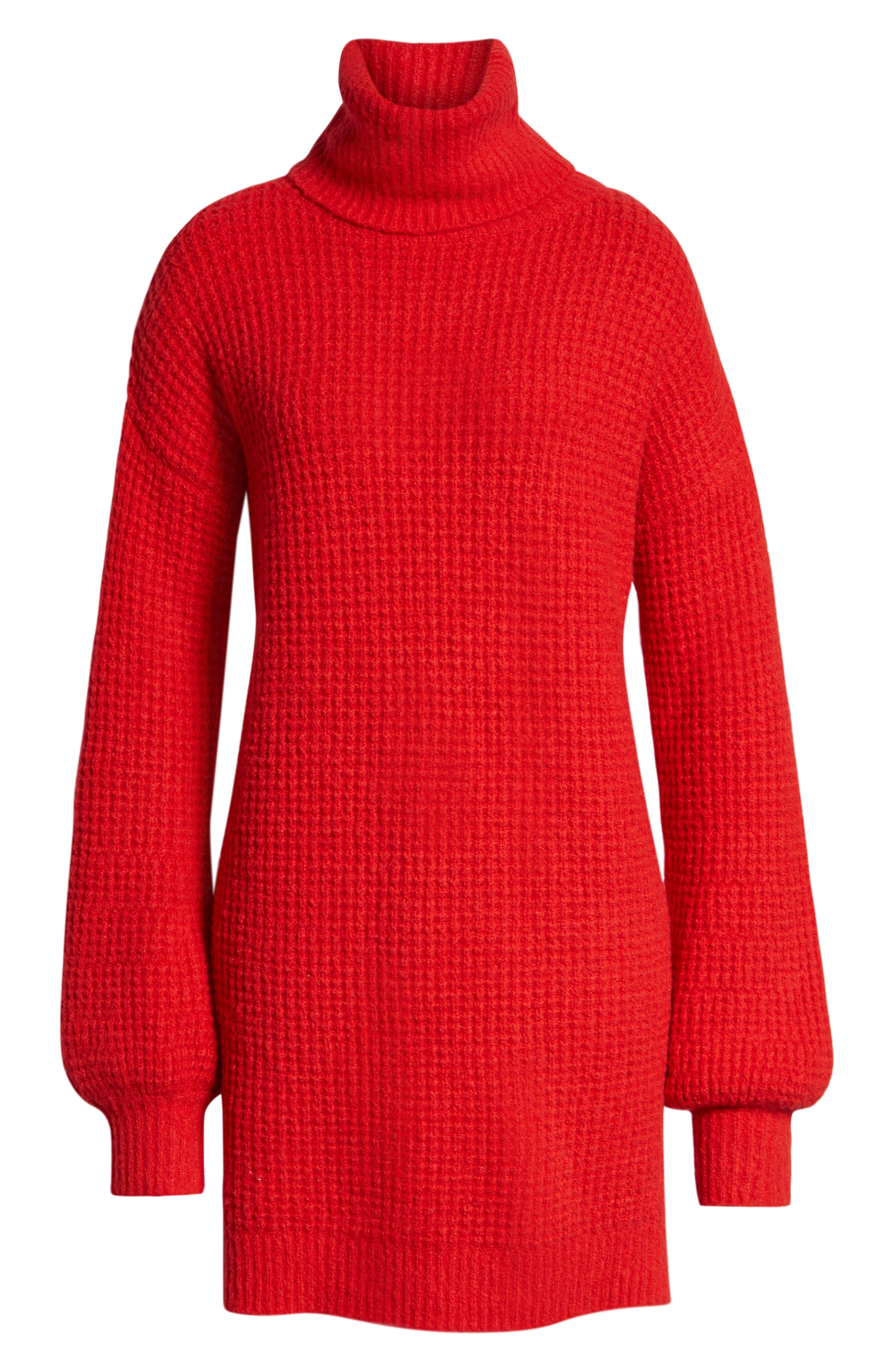 Holly Red Sweater Dress,                             Alternate thumbnail 8, color,                             600