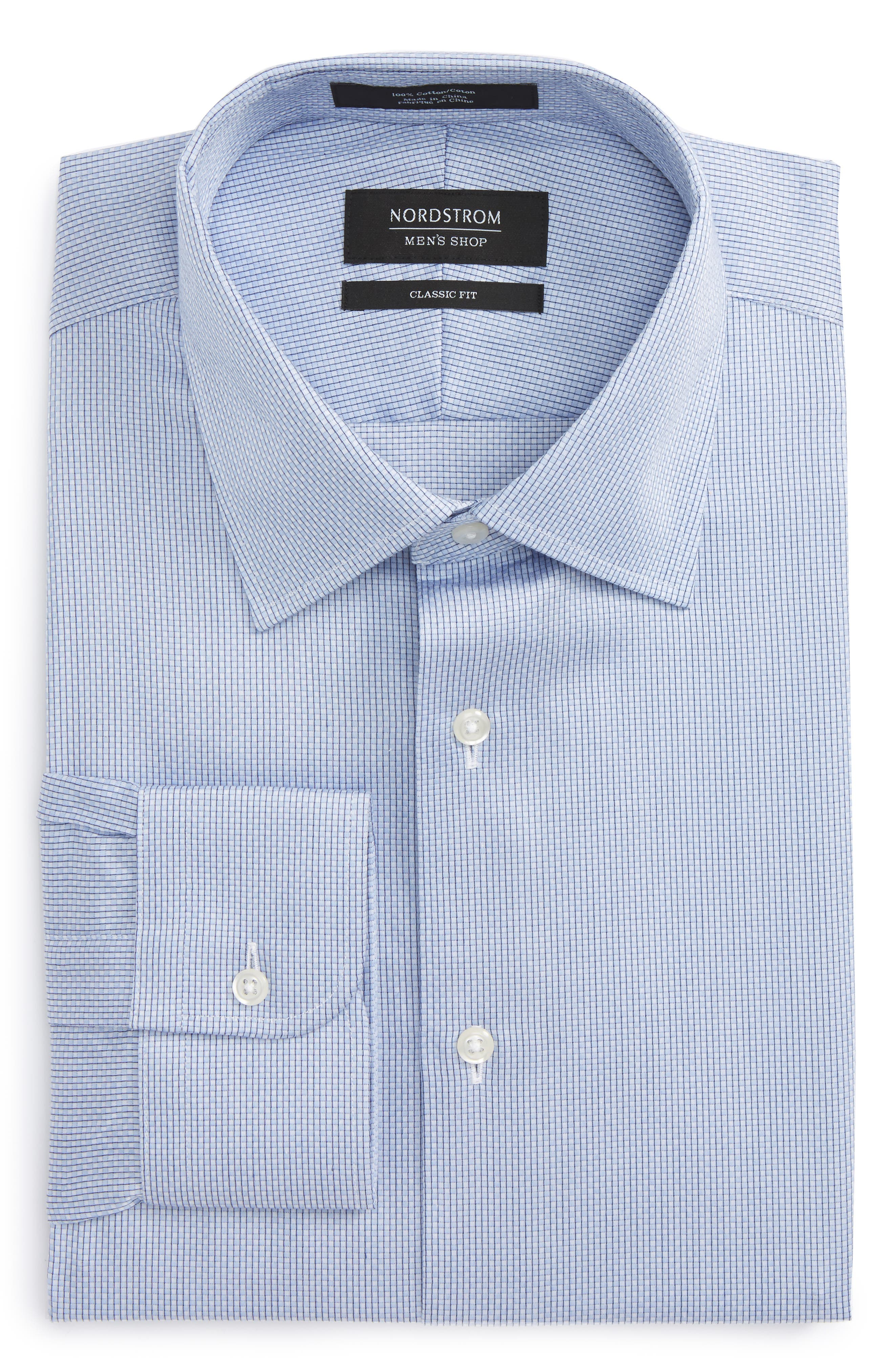 Classic Fit Check Dress Shirt,                             Main thumbnail 1, color,                             450