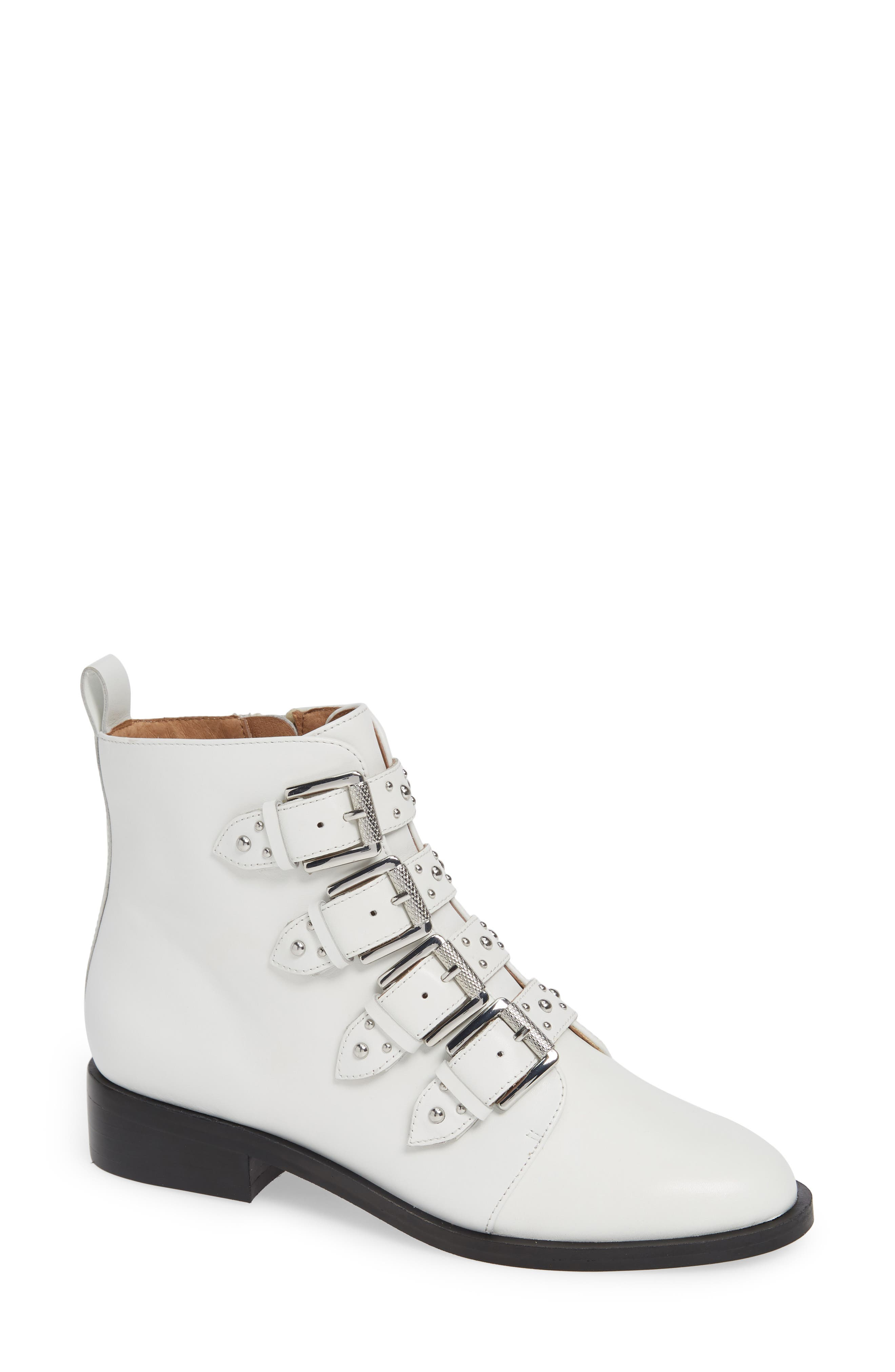 Halogen Lily Buckle Bootie, White