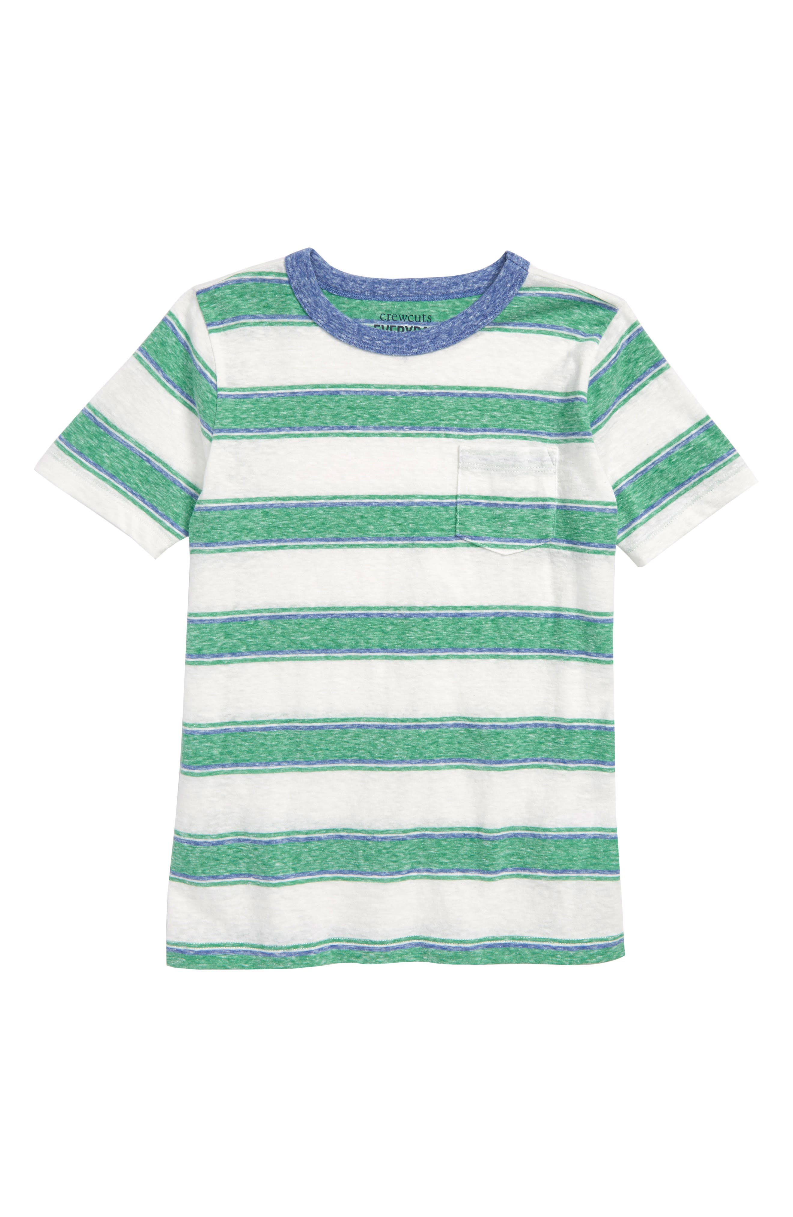 Abbot Surfside Stripe T-Shirt,                             Main thumbnail 1, color,                             CLOVER IVORY MULTI