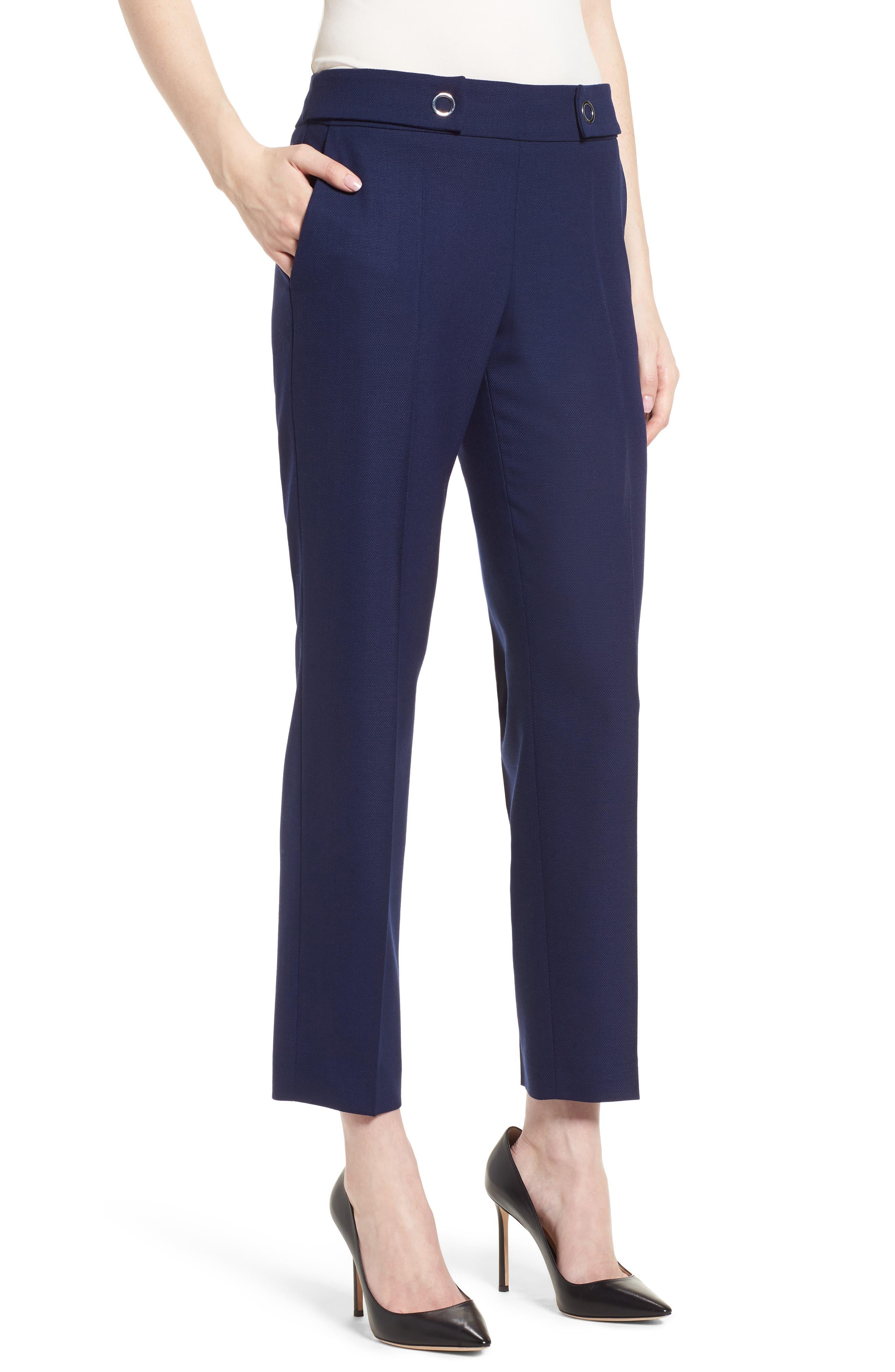 Tibalena Textured Stretch Wool Suit Pants,                             Main thumbnail 1, color,                             425