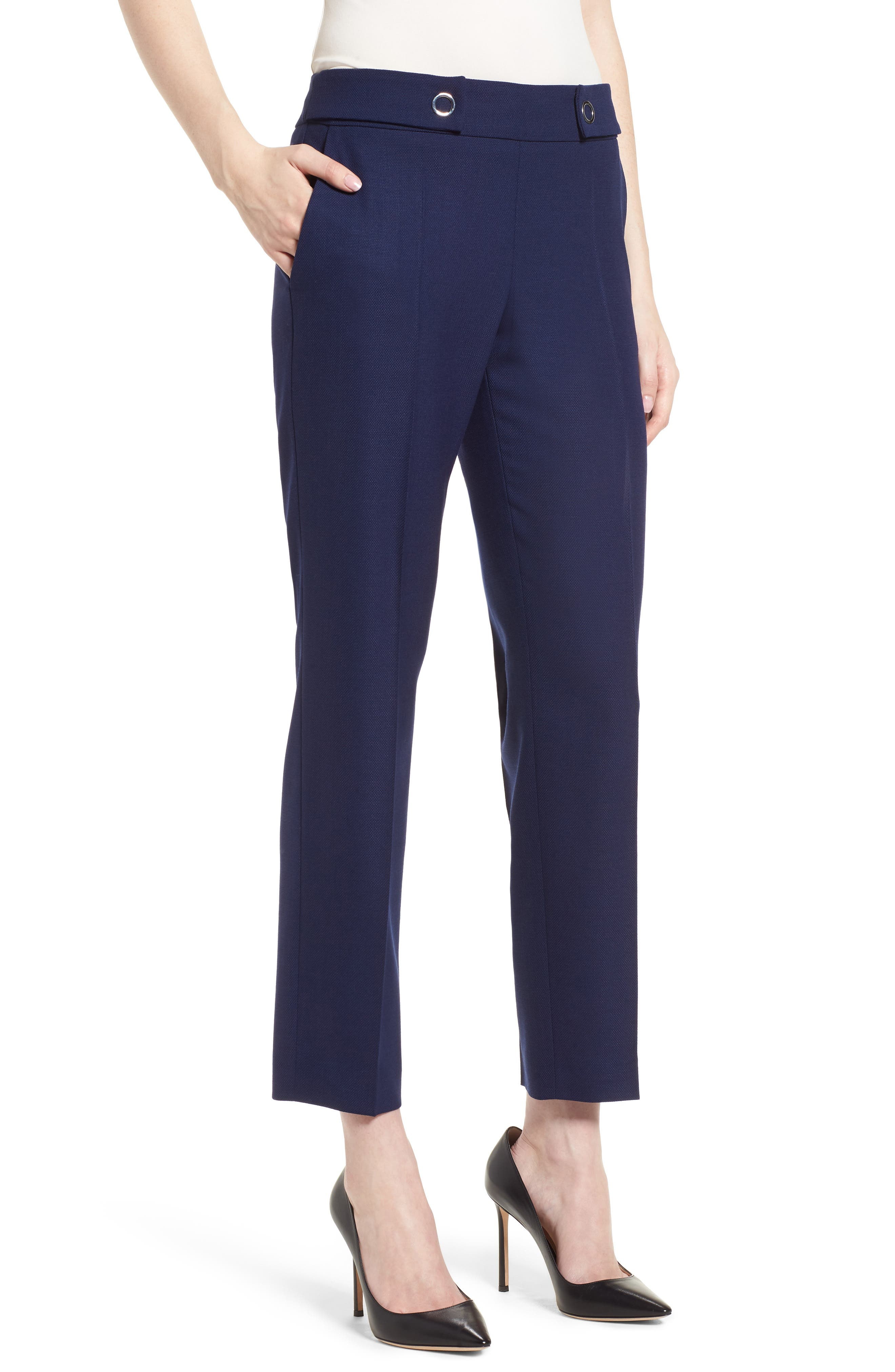 Tibalena Textured Stretch Wool Suit Pants,                         Main,                         color, 425