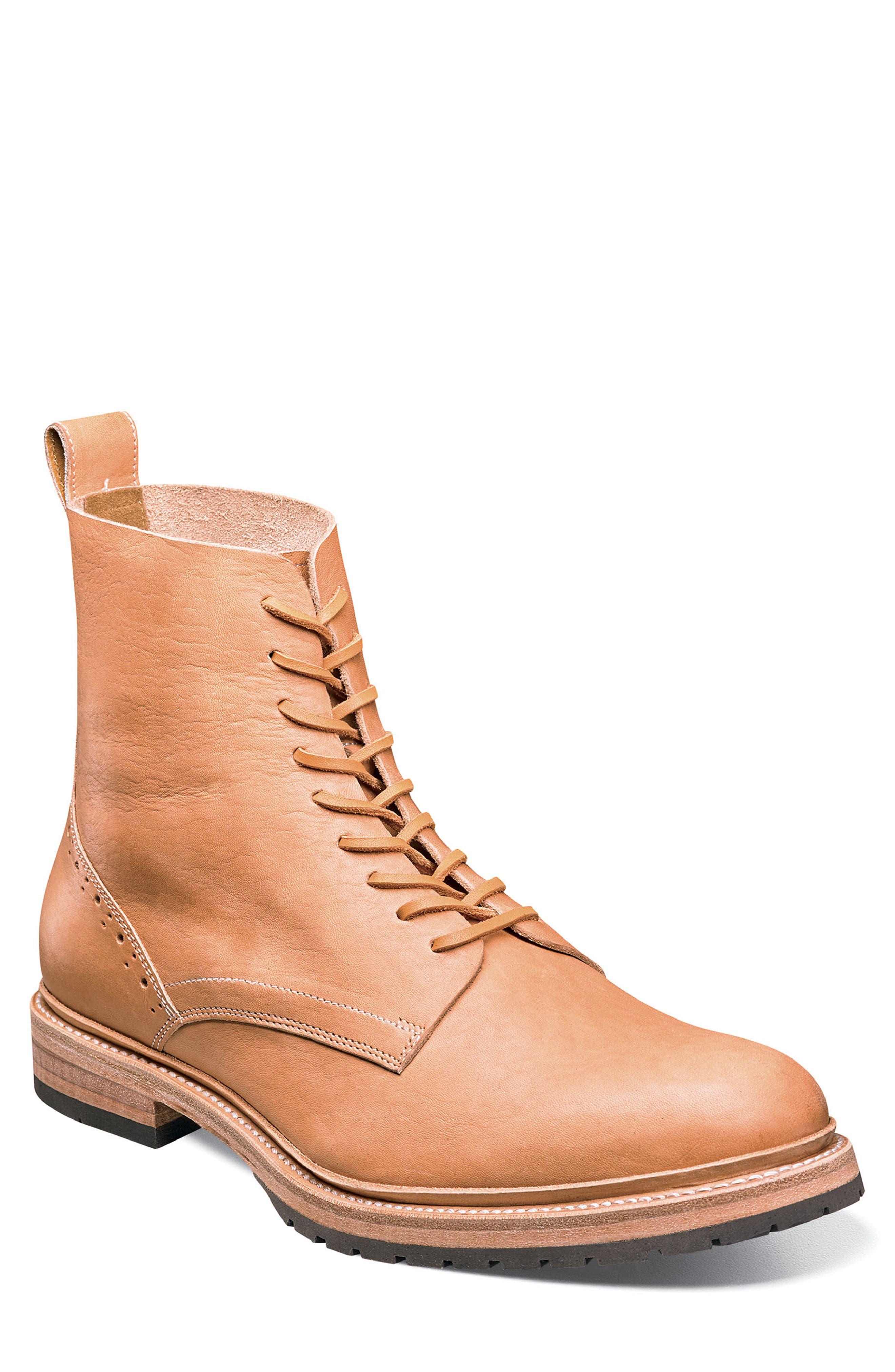 M2 Plain Toe Boot,                             Main thumbnail 1, color,                             NATURAL LEATHER