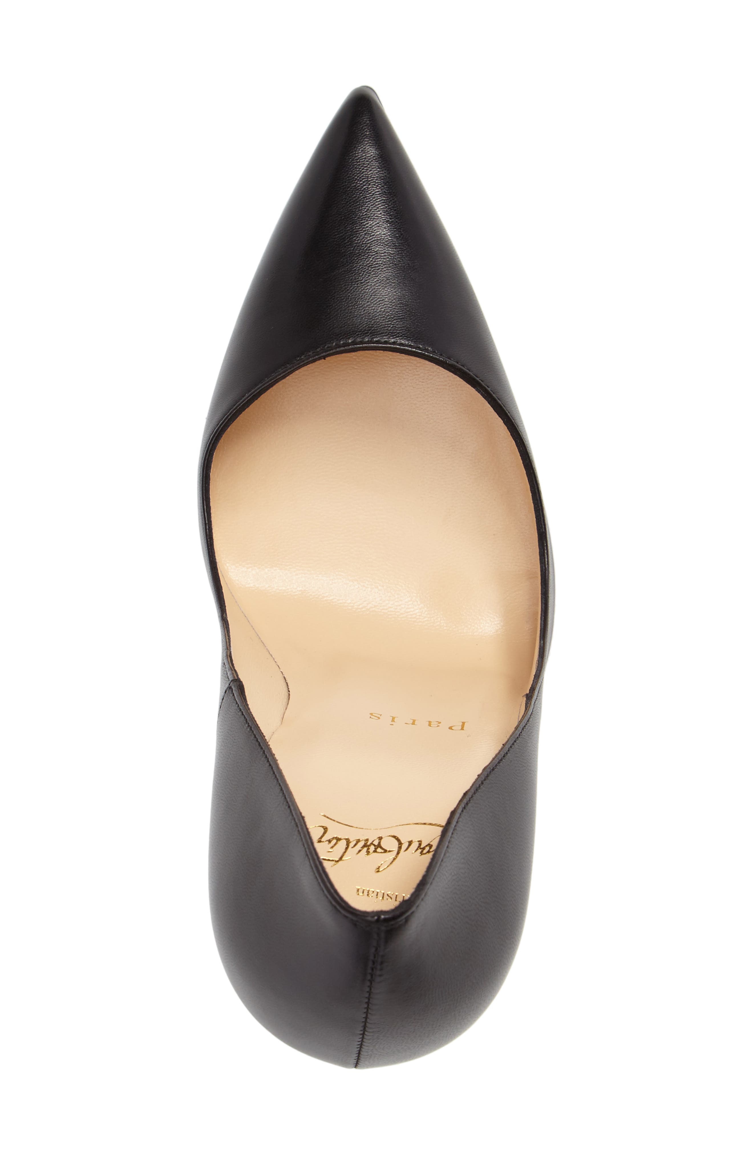 'So Kate' Pointy Toe Leather Pump,                             Alternate thumbnail 4, color,                             001