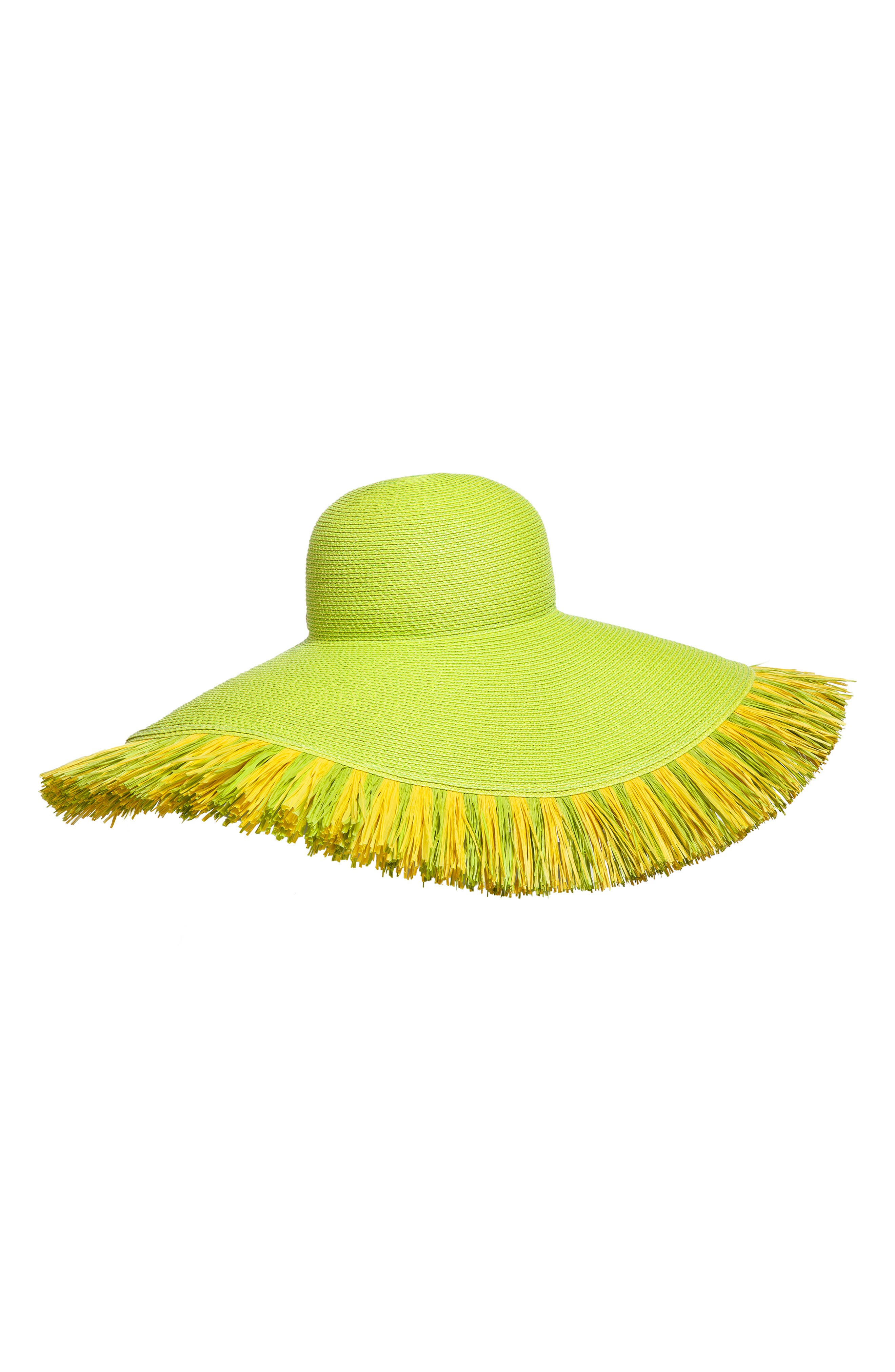 Fringed Squishee<sup>®</sup> Packable Floppy Hat,                         Main,                         color, 300