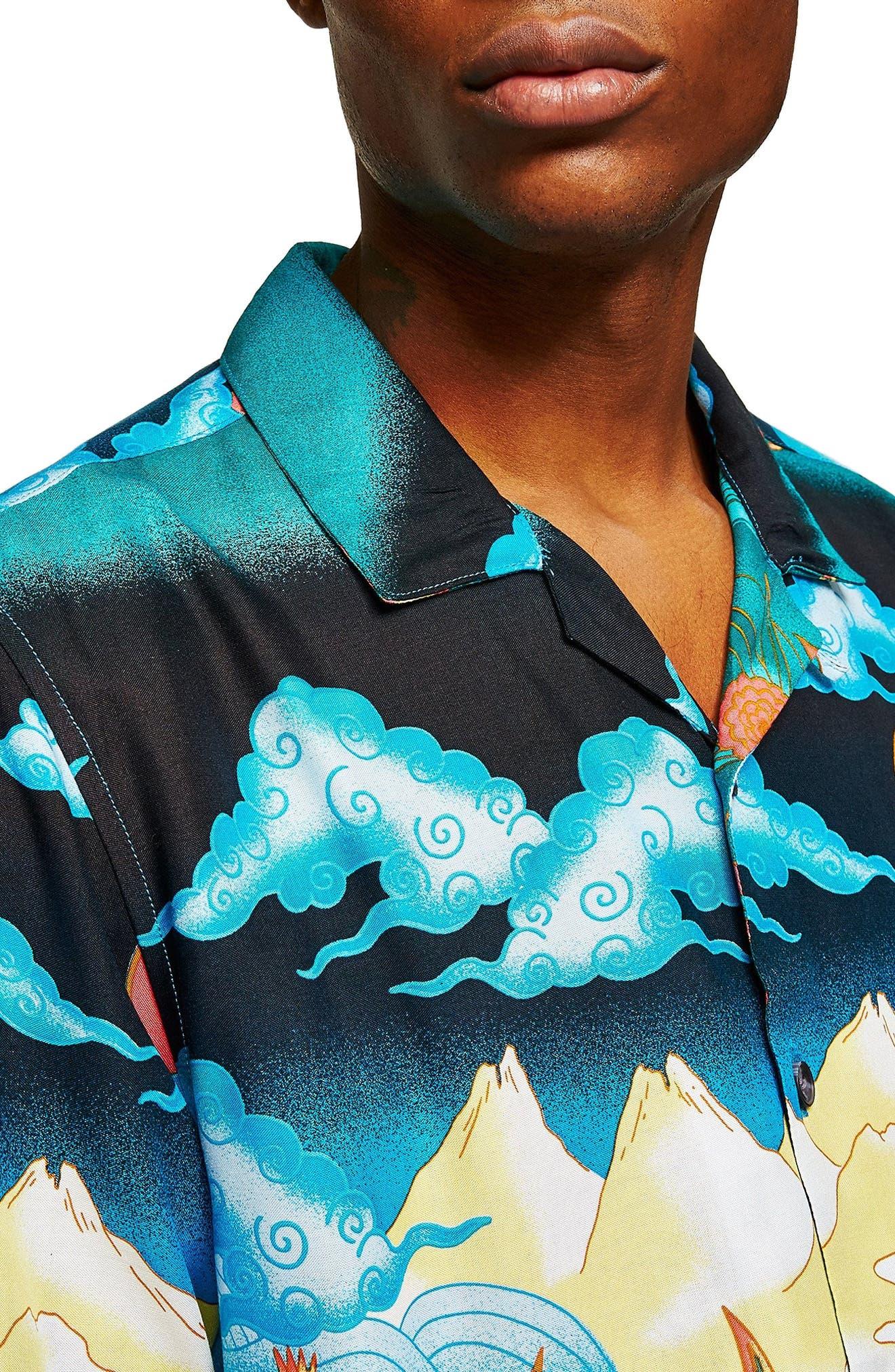 Foo Dog Classic Fit Shirt,                             Alternate thumbnail 2, color,                             BLUE MULTI