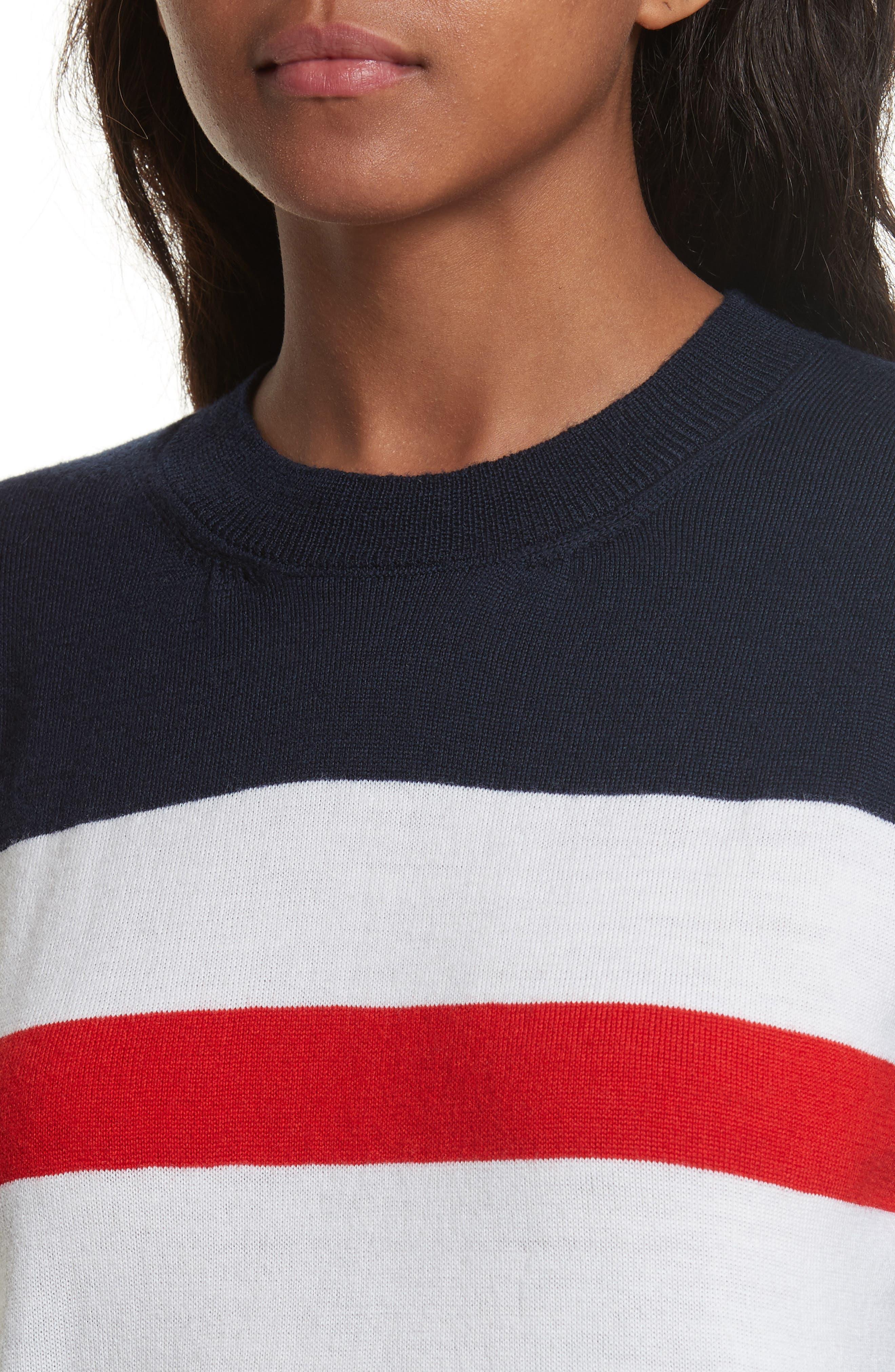être cécile Boyfriend Knit Merino Wool Sweater,                             Alternate thumbnail 4, color,                             400