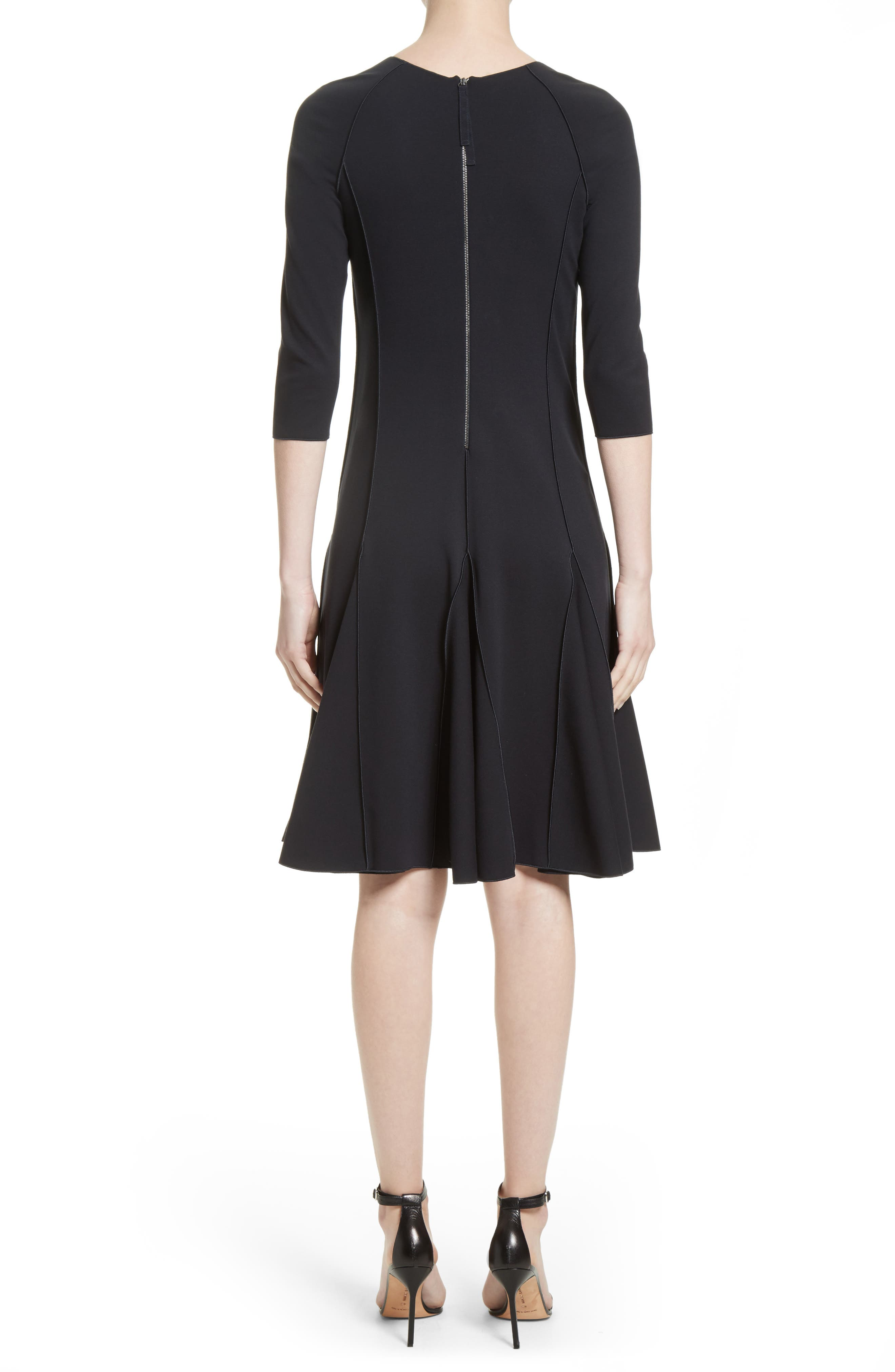 Seamed Jersey Fit & Flare Dress,                             Alternate thumbnail 2, color,                             414