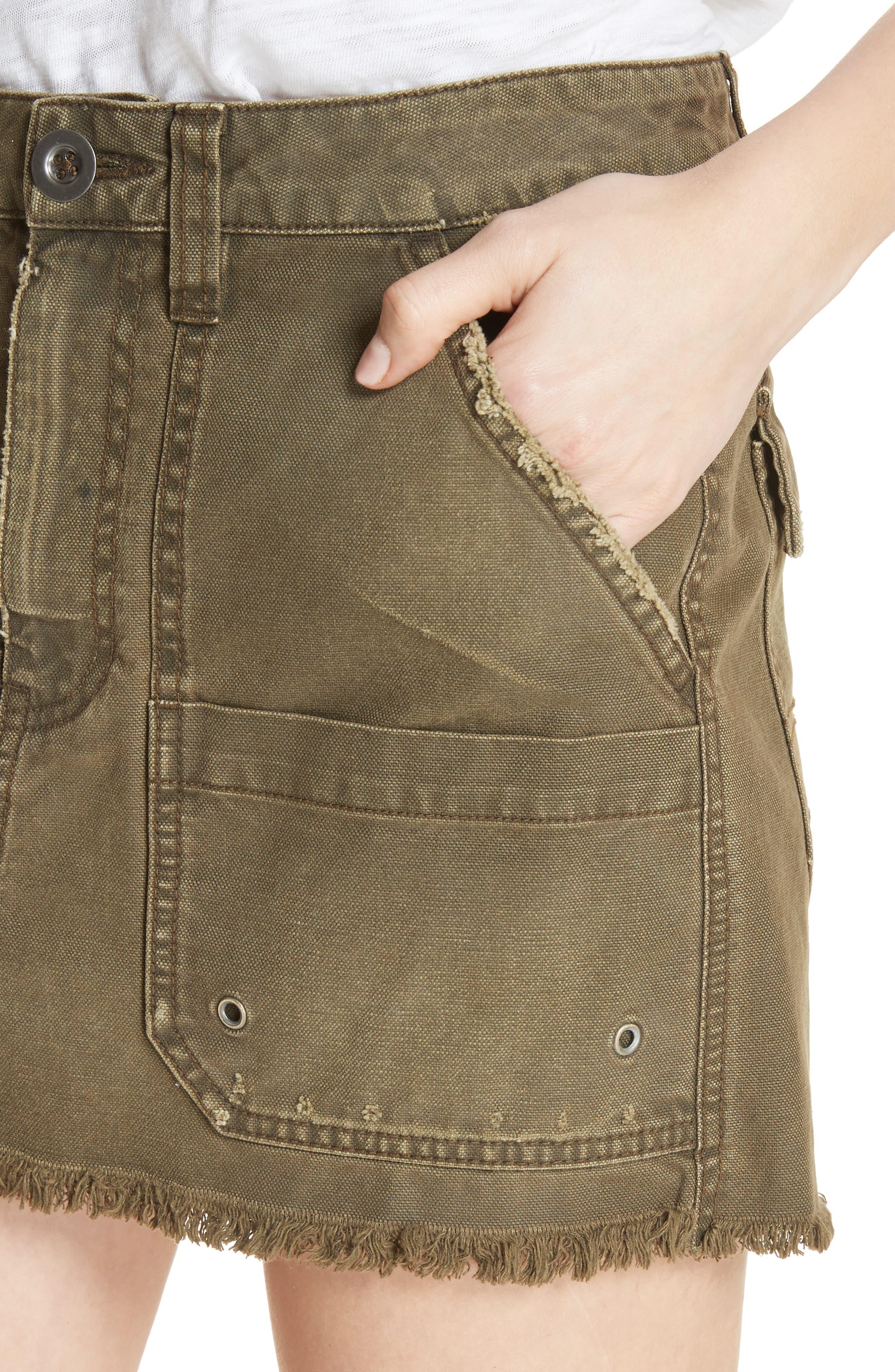 Canvas Miniskirt,                             Alternate thumbnail 11, color,