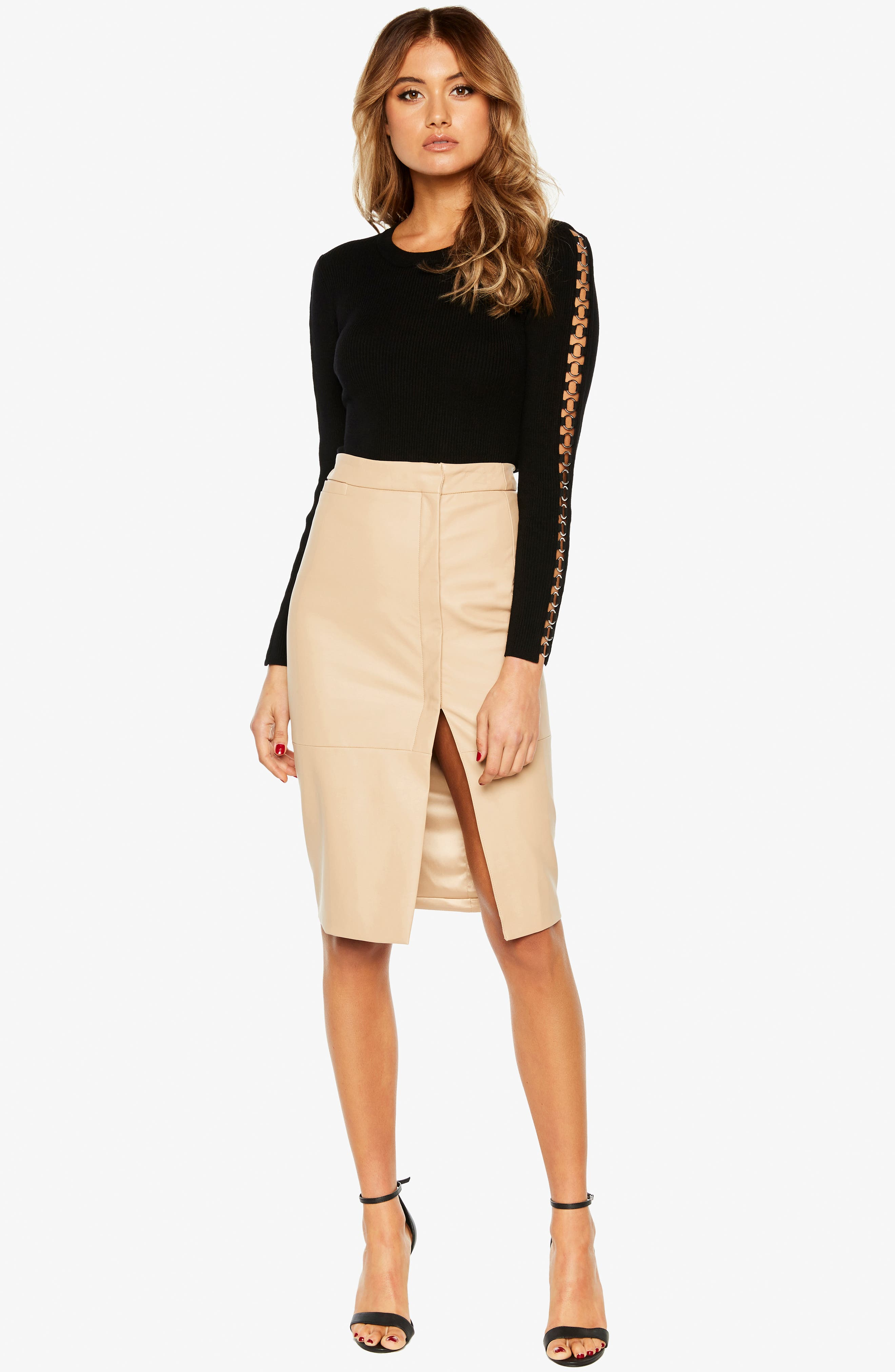 Dee Faux Leather Pencil Skirt,                             Alternate thumbnail 5, color,                             250