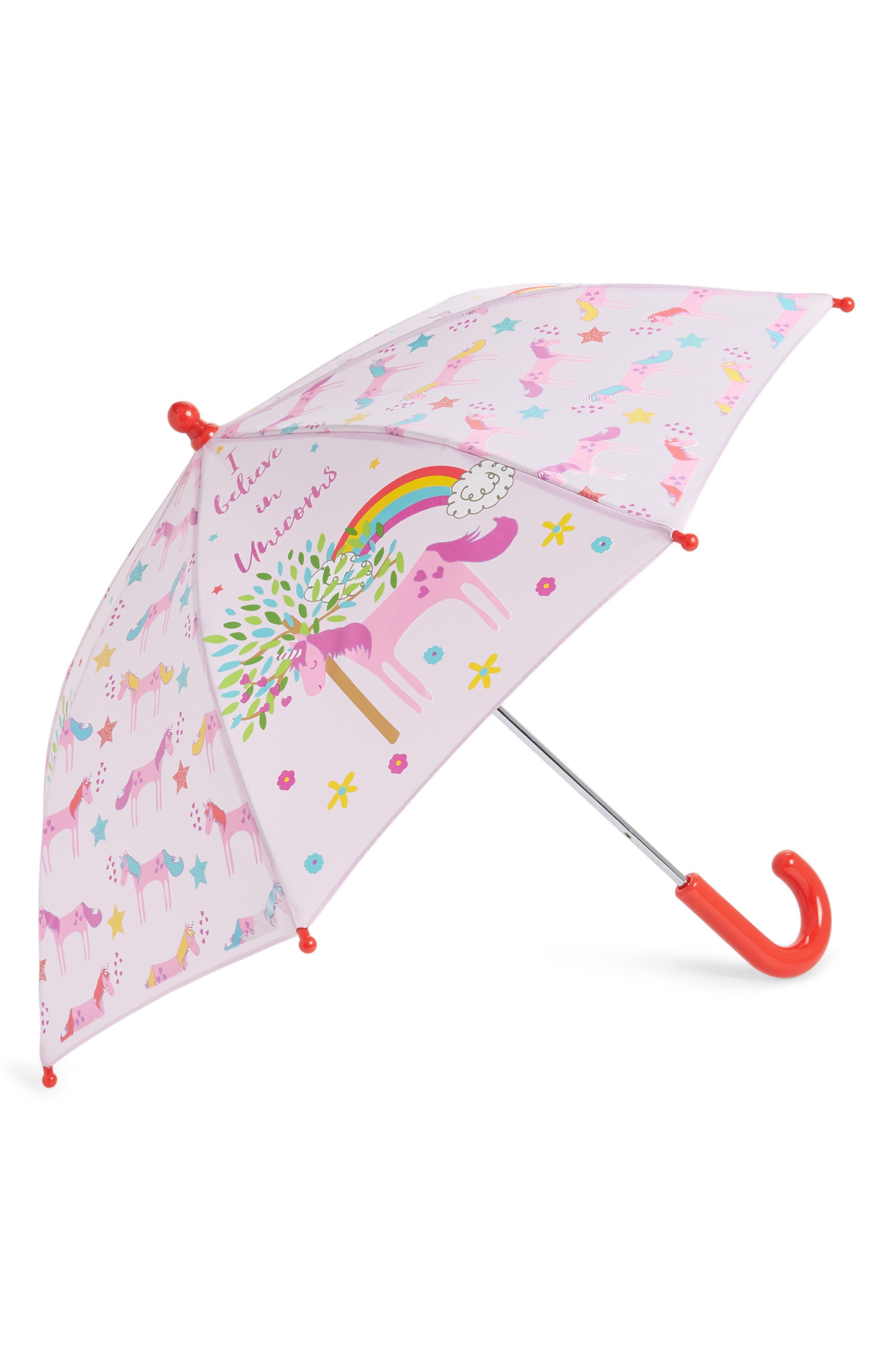 Floss & Rock Unicorn Color Changing Umbrella,                             Alternate thumbnail 2, color,                             LIGHT PINK