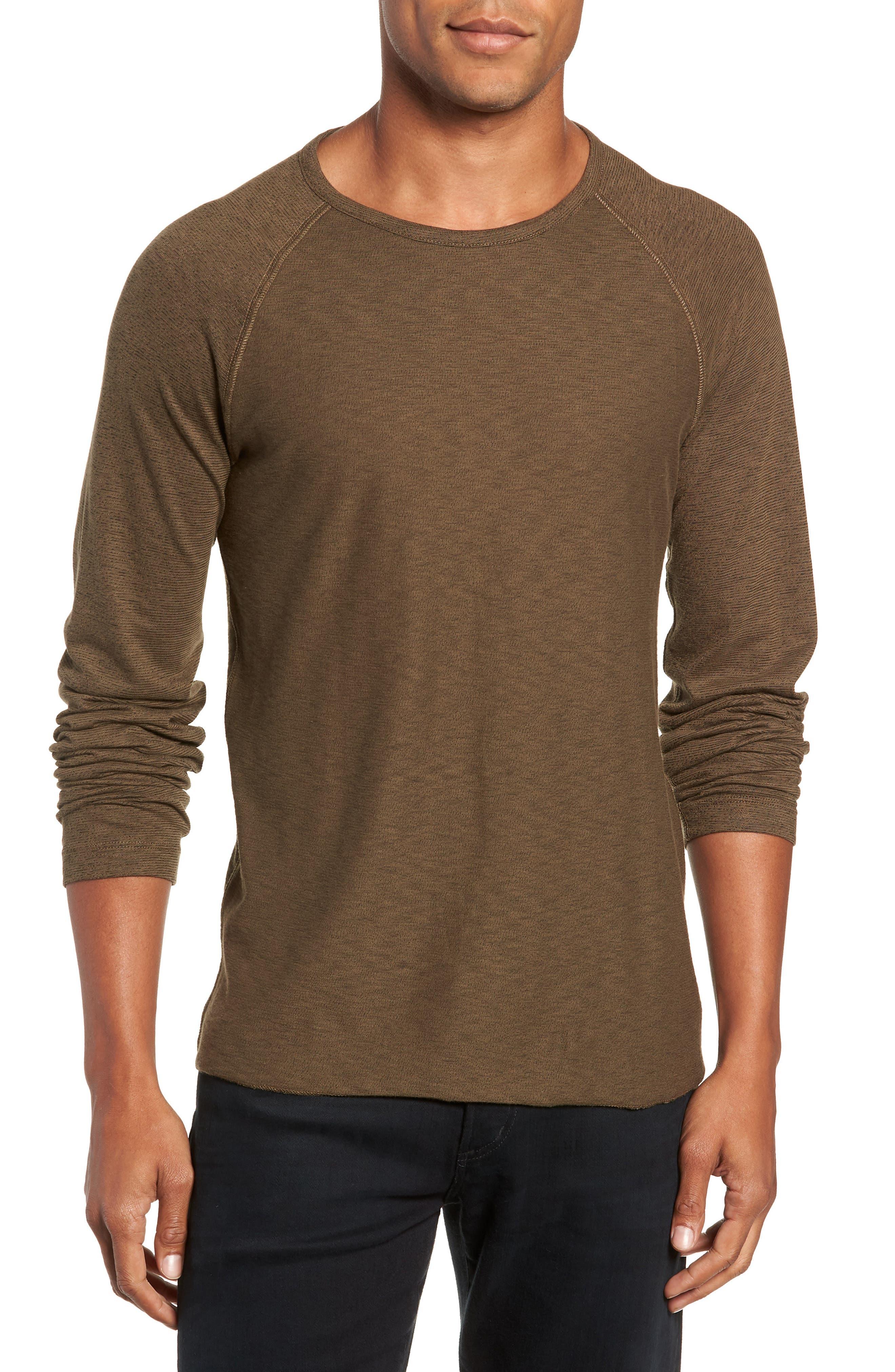 Regular Fit Long Sleeve T-Shirt,                         Main,                         color, OLIVE