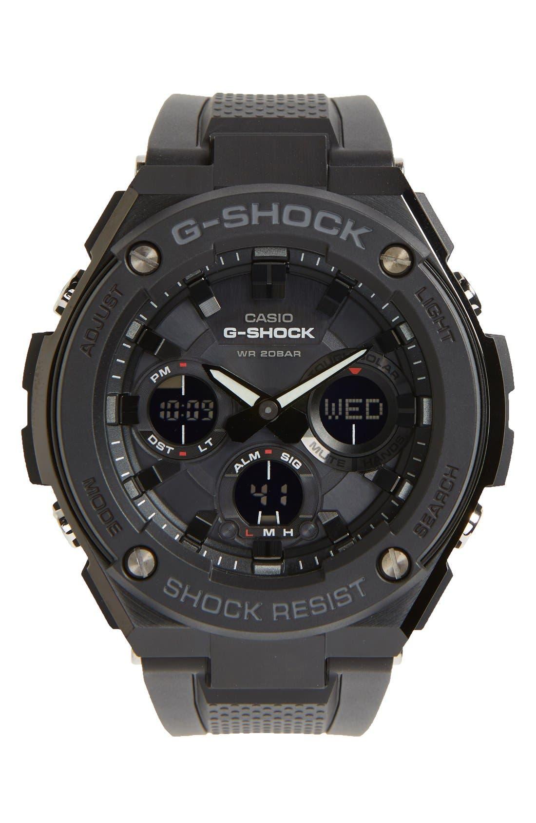 G-Shock Ana-Digi Solar Watch, 46mm,                             Main thumbnail 1, color,                             001
