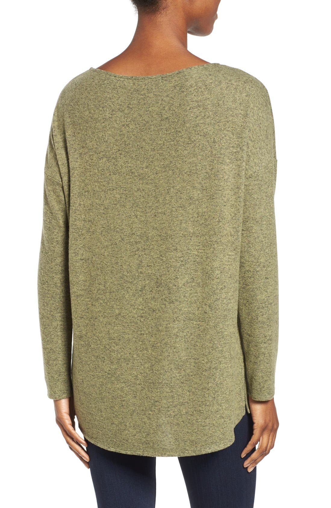Cozy Ballet Neck High/Low Pullover,                             Alternate thumbnail 44, color,