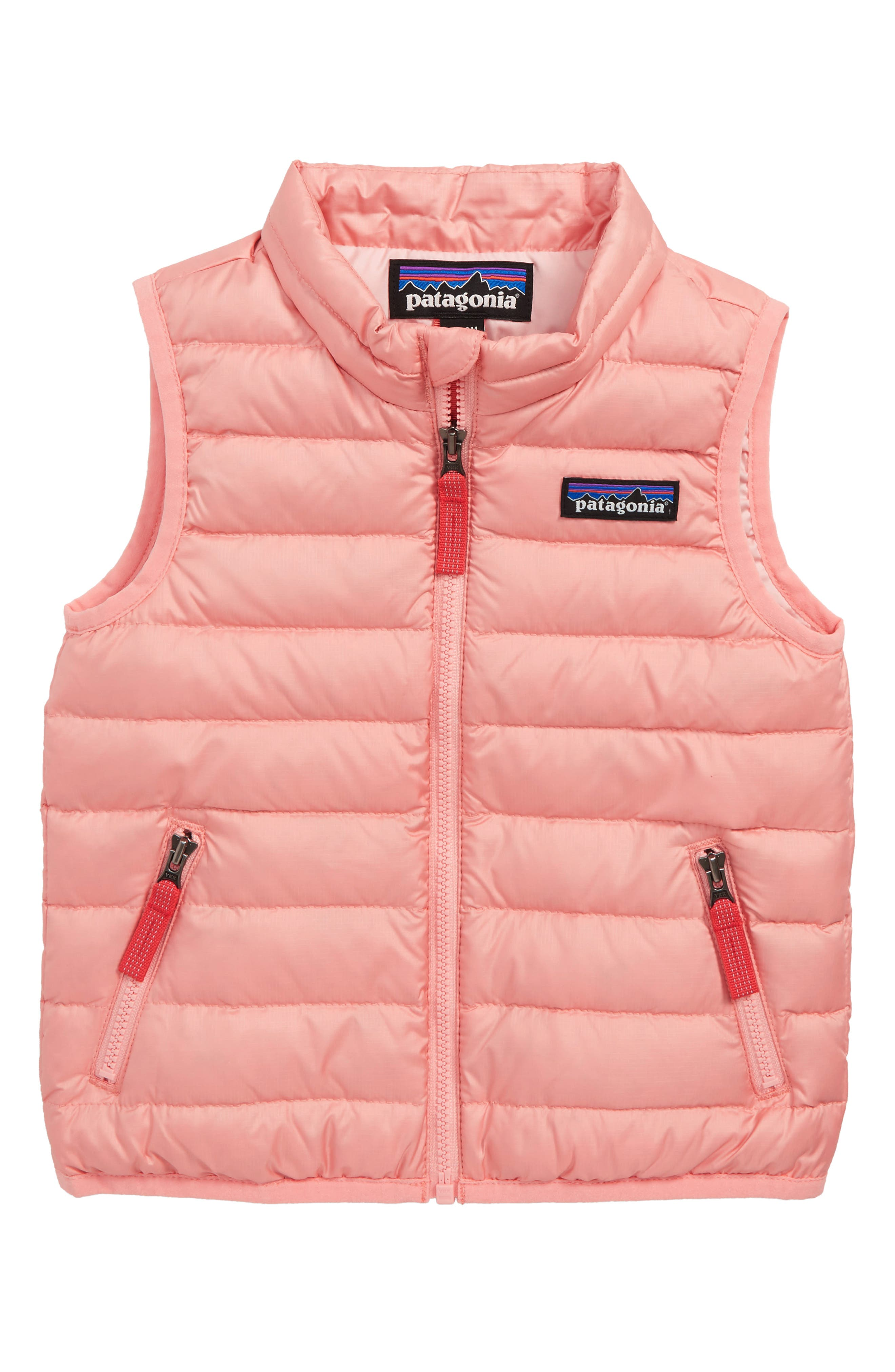 Water Repellent Down Sweater Vest,                             Main thumbnail 1, color,                             MINERAL PINK