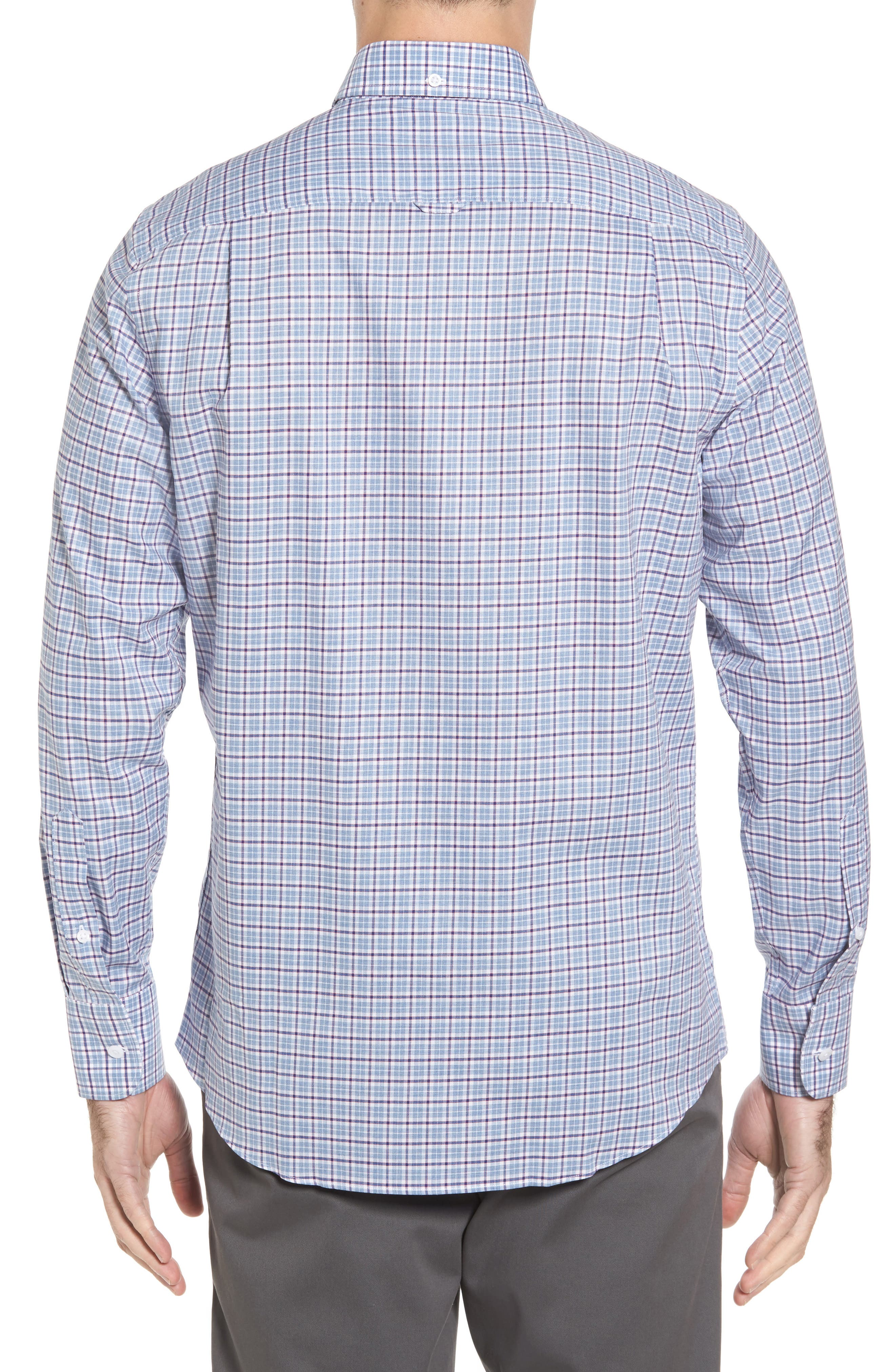 Non-Iron Regular Fit Check Sport Shirt,                             Alternate thumbnail 2, color,                             450