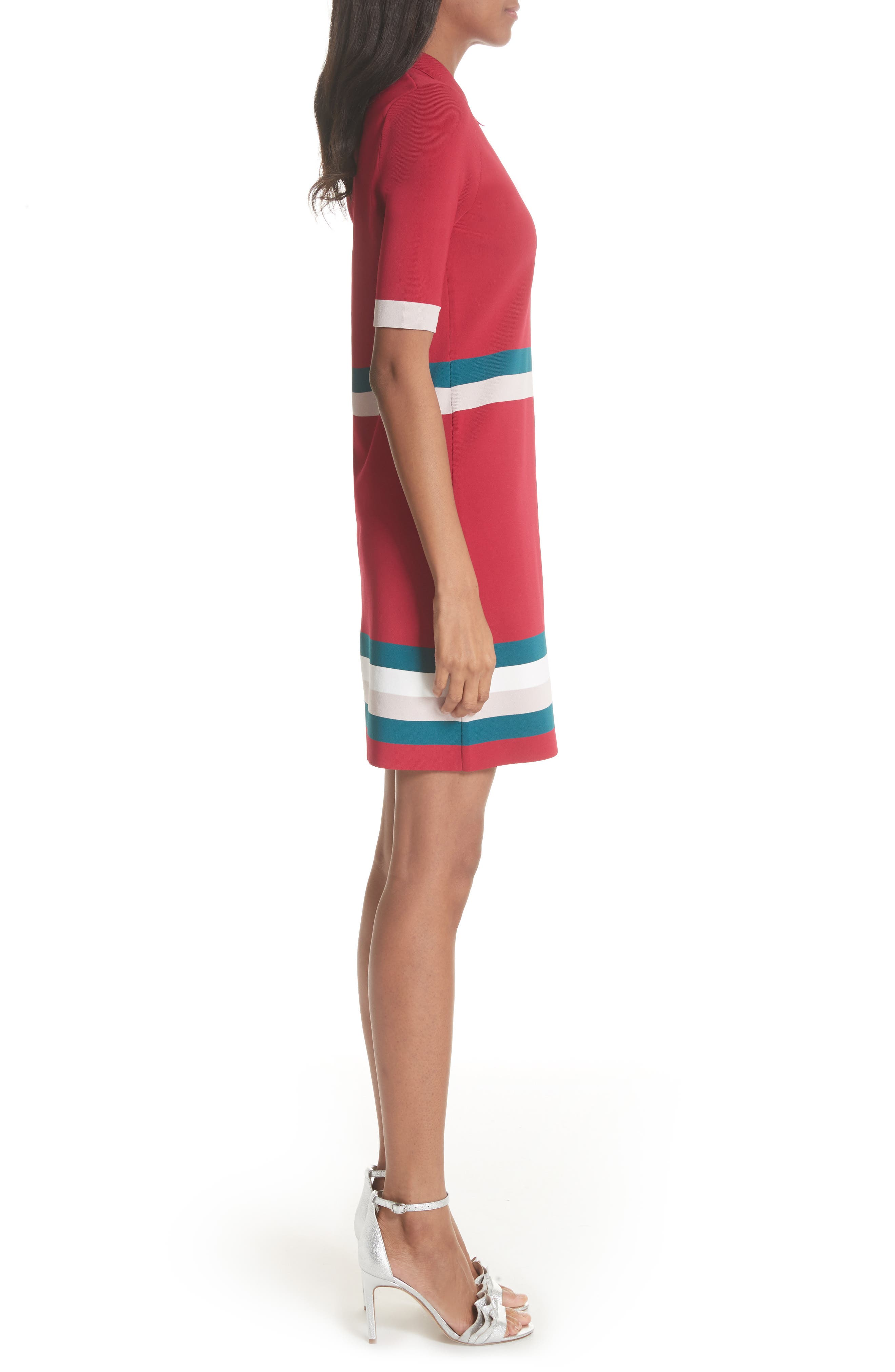 Colour by Numbers Border Stripe Dress,                             Alternate thumbnail 6, color,