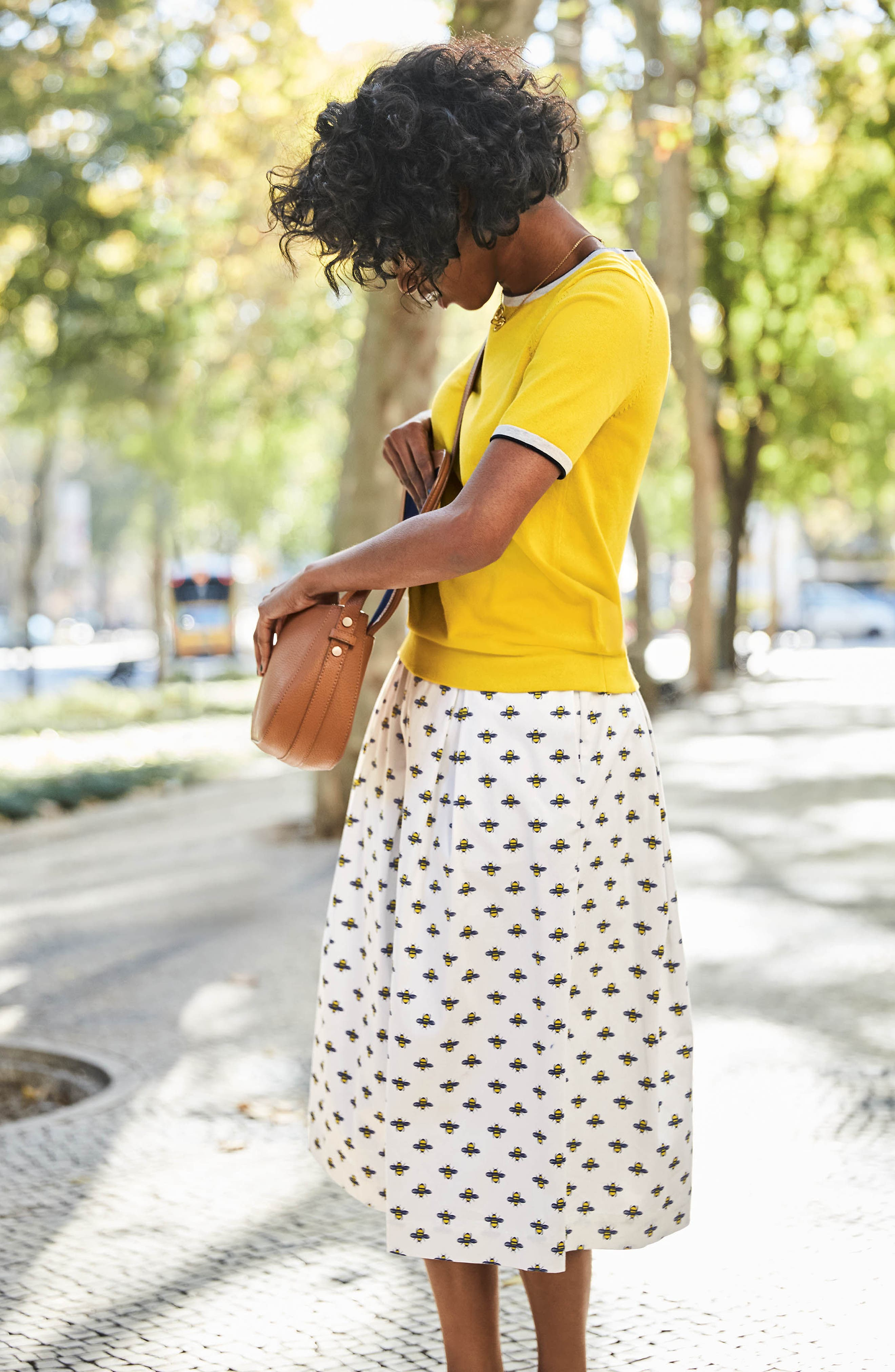 Lola Floral Flared Skirt,                             Alternate thumbnail 10, color,