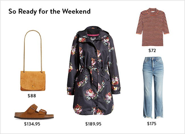 So ready for the weekend: women's clothing, shoes and accessories.