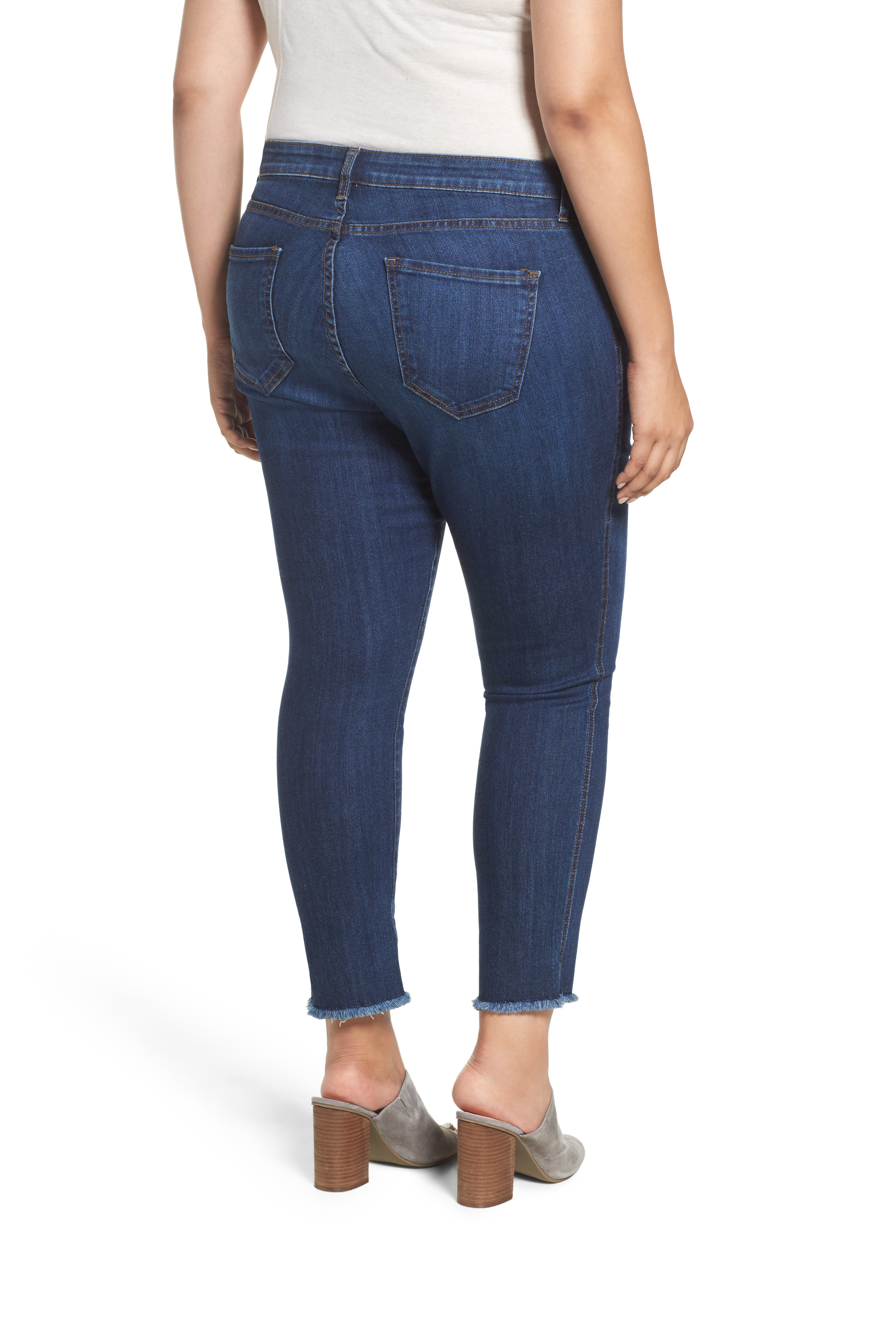 Reese Frayed Ankle Jeans,                             Alternate thumbnail 2, color,