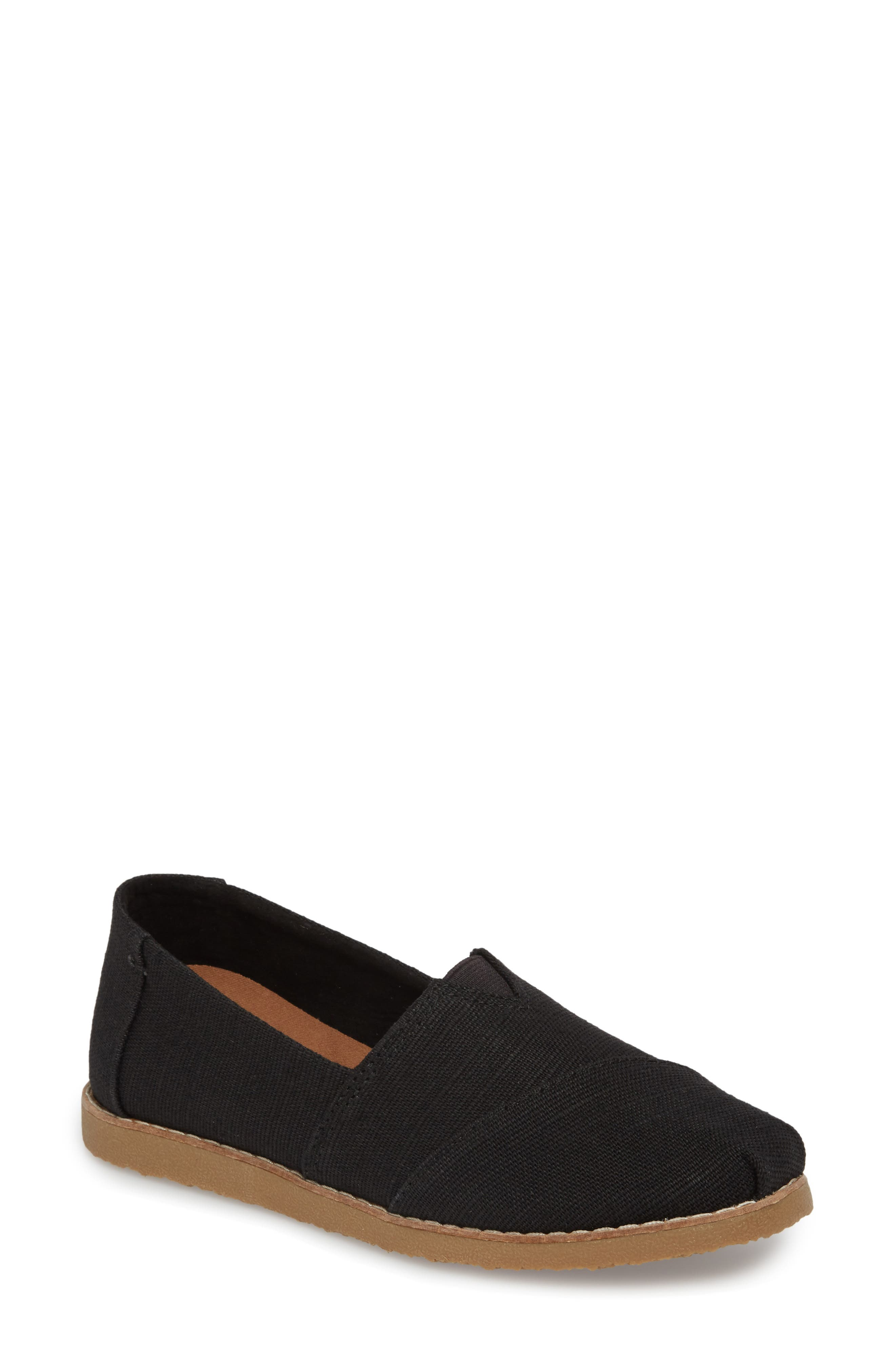 Alpargata Slip-On,                         Main,                         color, BLACK HERITAGE CANVAS