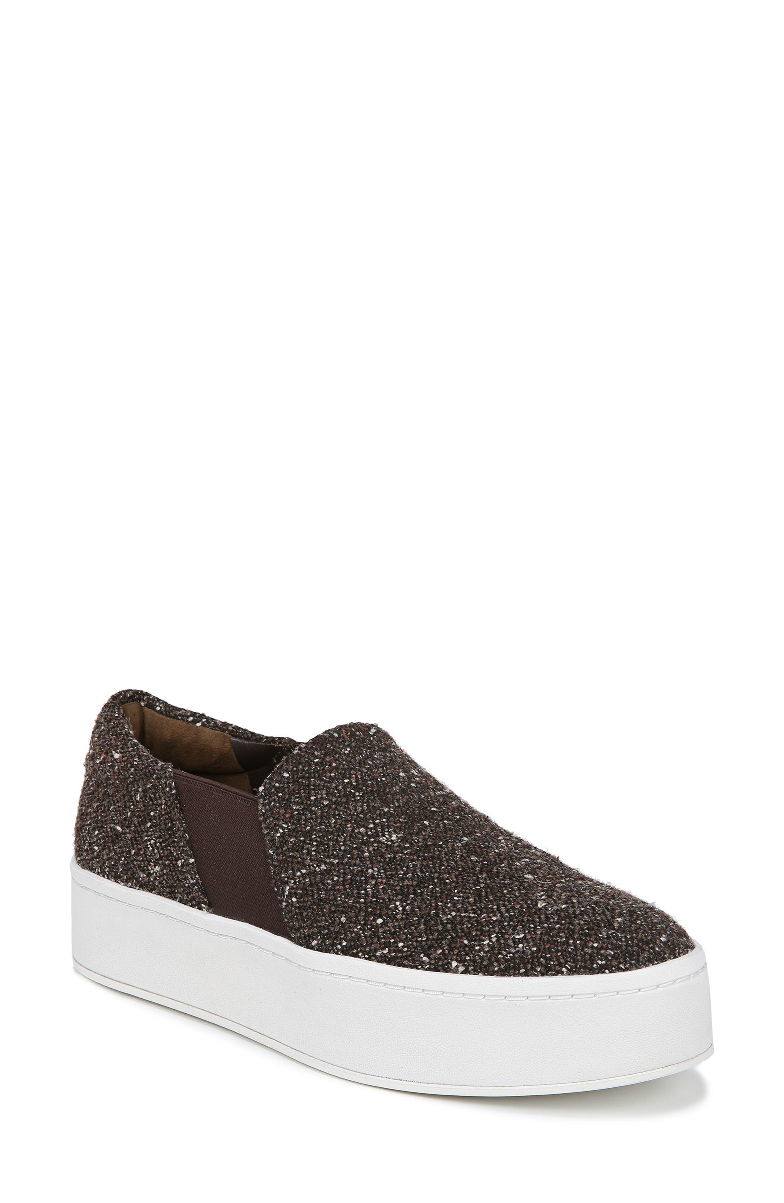 Warren Slip-On Sneaker,                         Main,                         color, UMBER