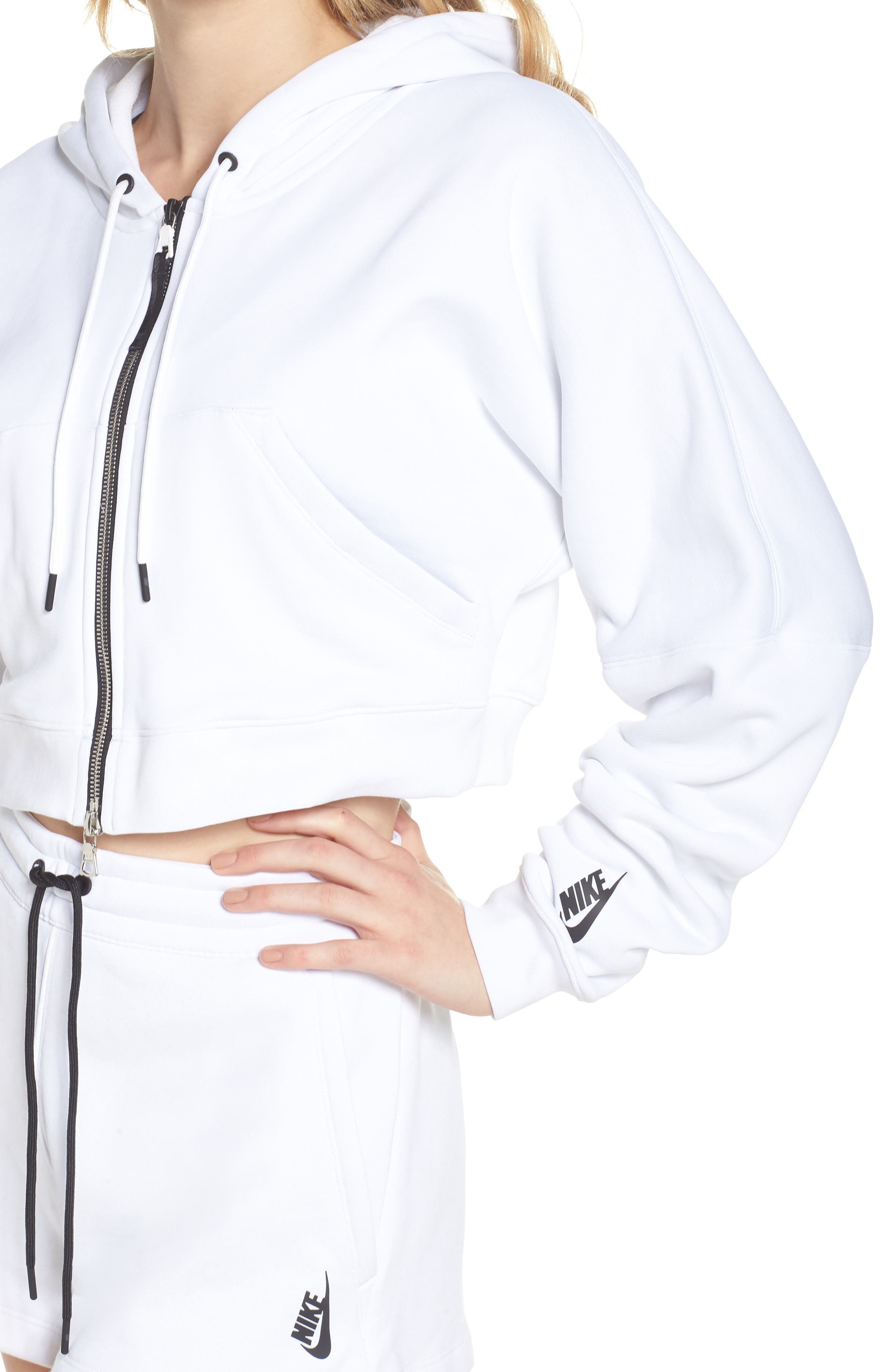 NikeLab Collection Terry Zip Hoodie,                             Alternate thumbnail 4, color,                             100