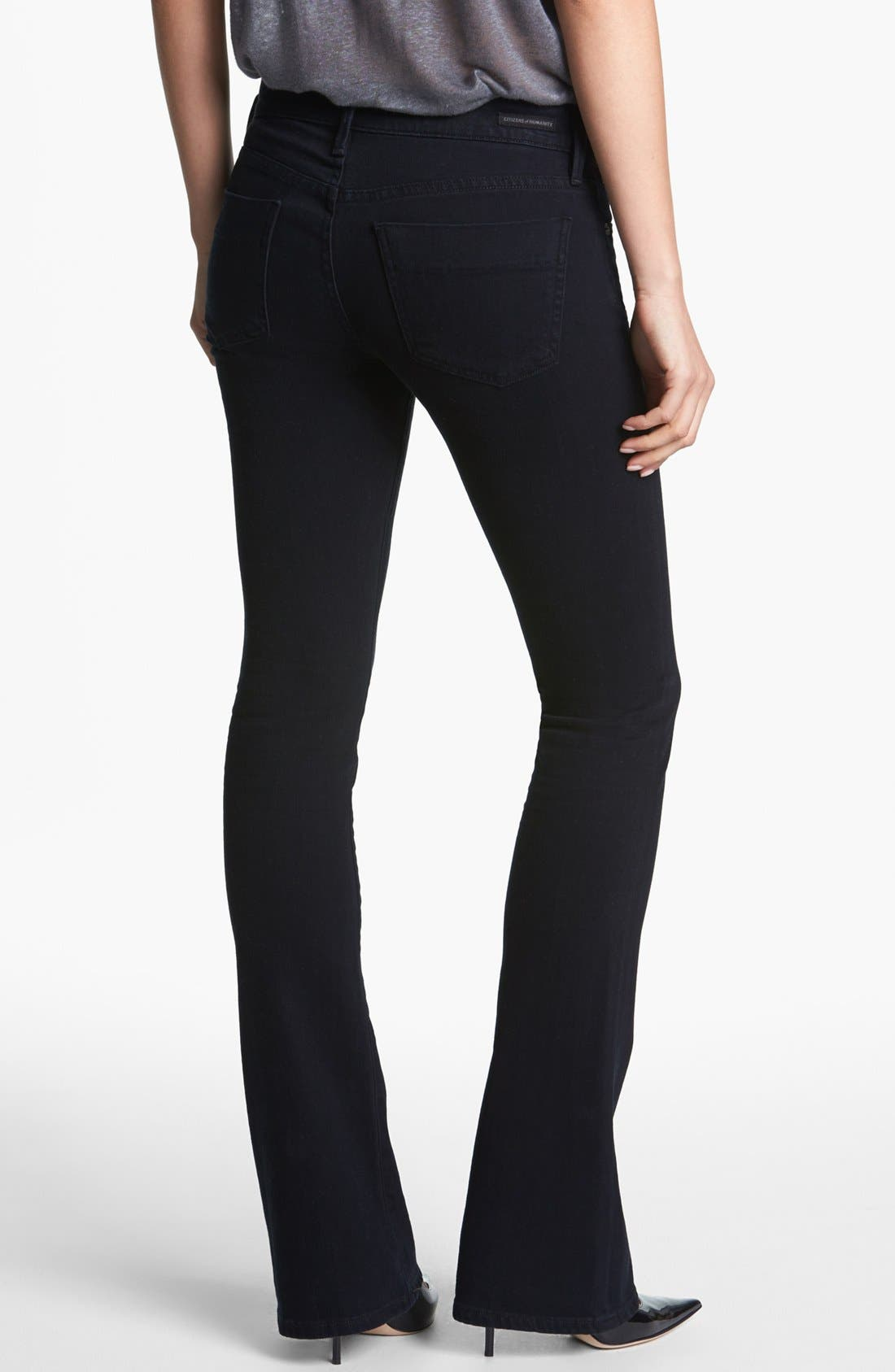 'Emmanuelle' Slim Bootcut Jeans,                             Alternate thumbnail 3, color,                             FREEFALL