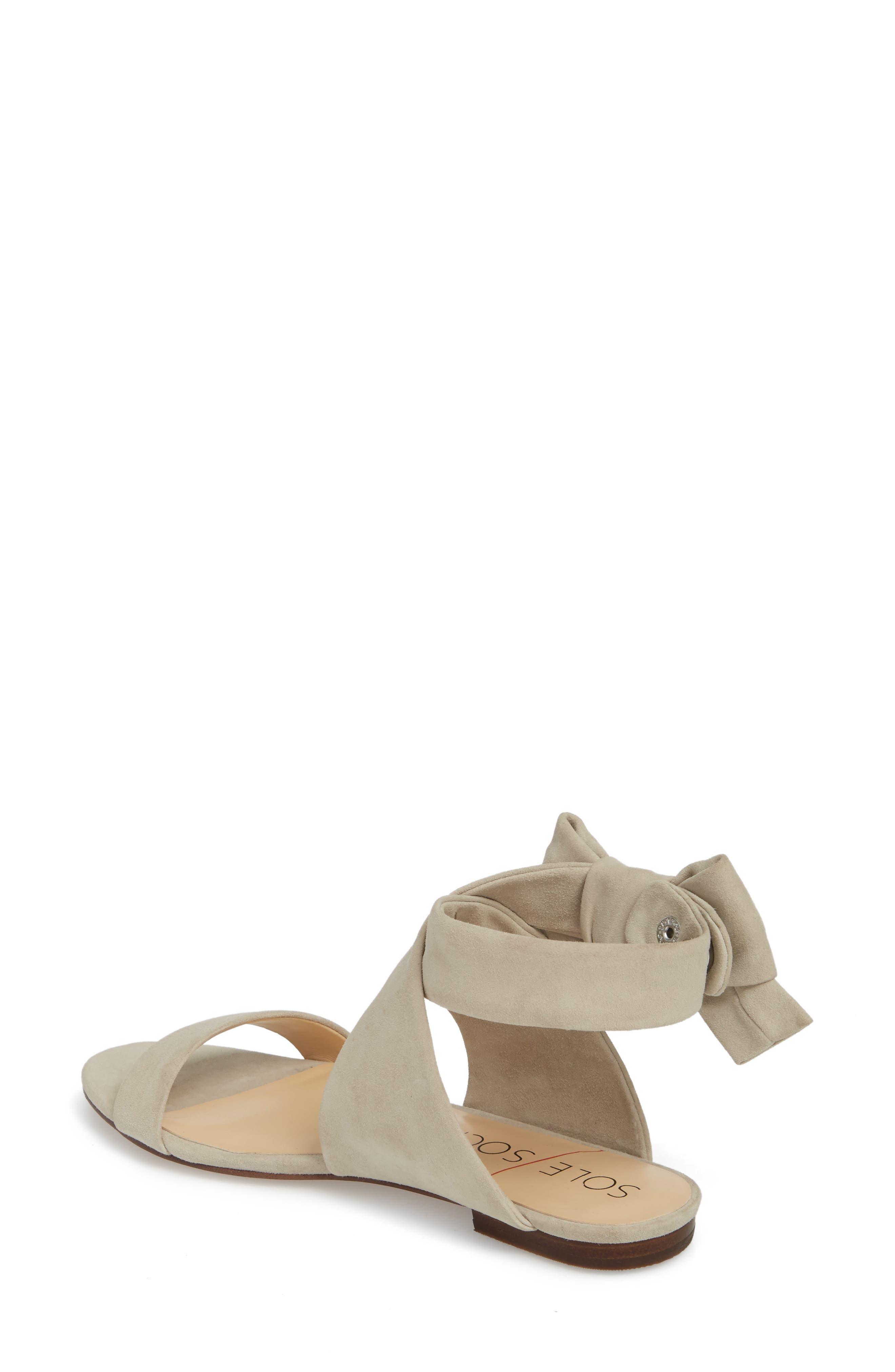 Calynda Bow Ankle Wrap Sandal,                             Alternate thumbnail 2, color,                             020