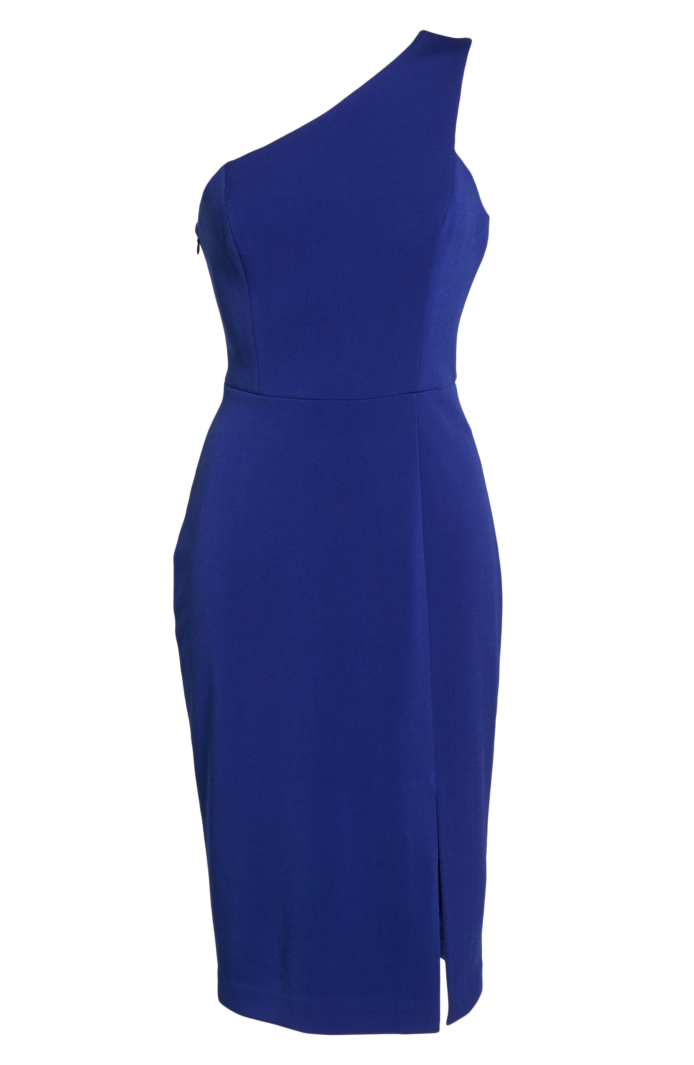 One-Shoulder Sheath Dress,                             Alternate thumbnail 6, color,                             430