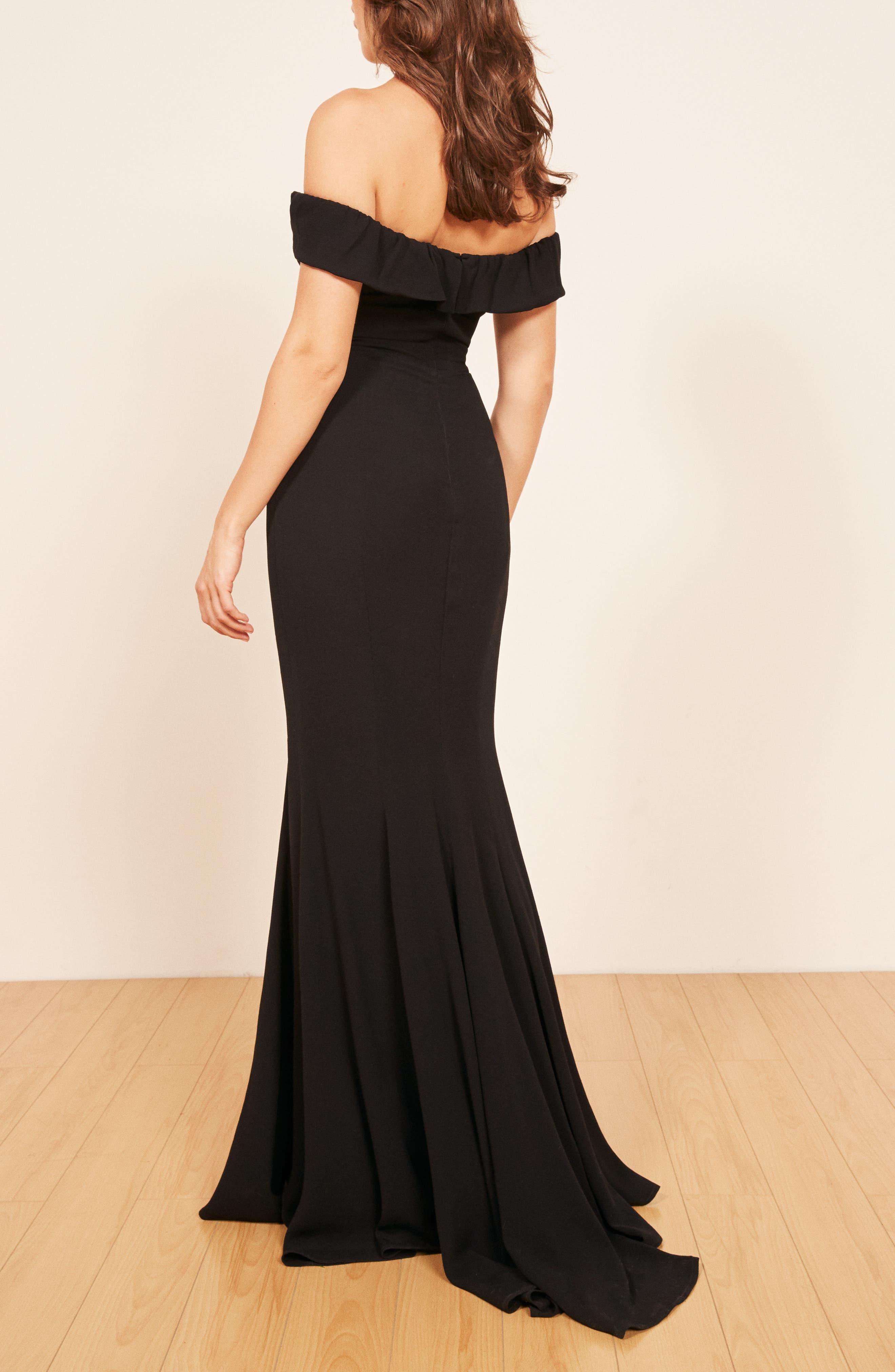 Bali Gown,                             Alternate thumbnail 3, color,                             BLACK