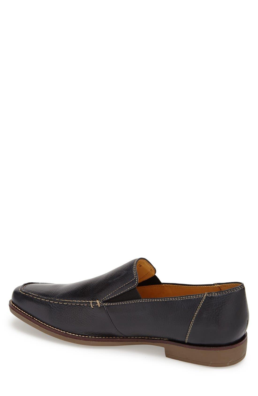 'Easy' Leather Venetian Loafer,                             Alternate thumbnail 2, color,                             NAVY