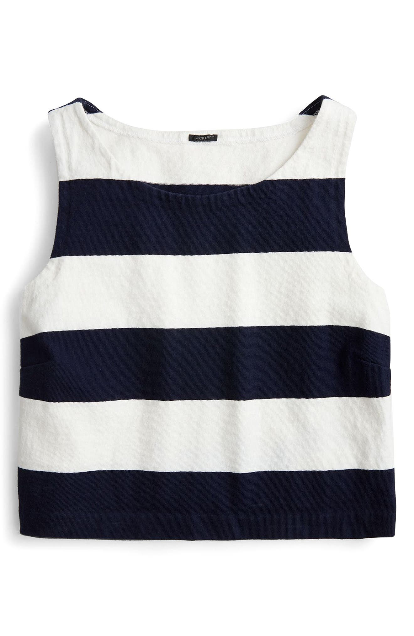 Crop Rugby Stripe Tank,                             Alternate thumbnail 3, color,
