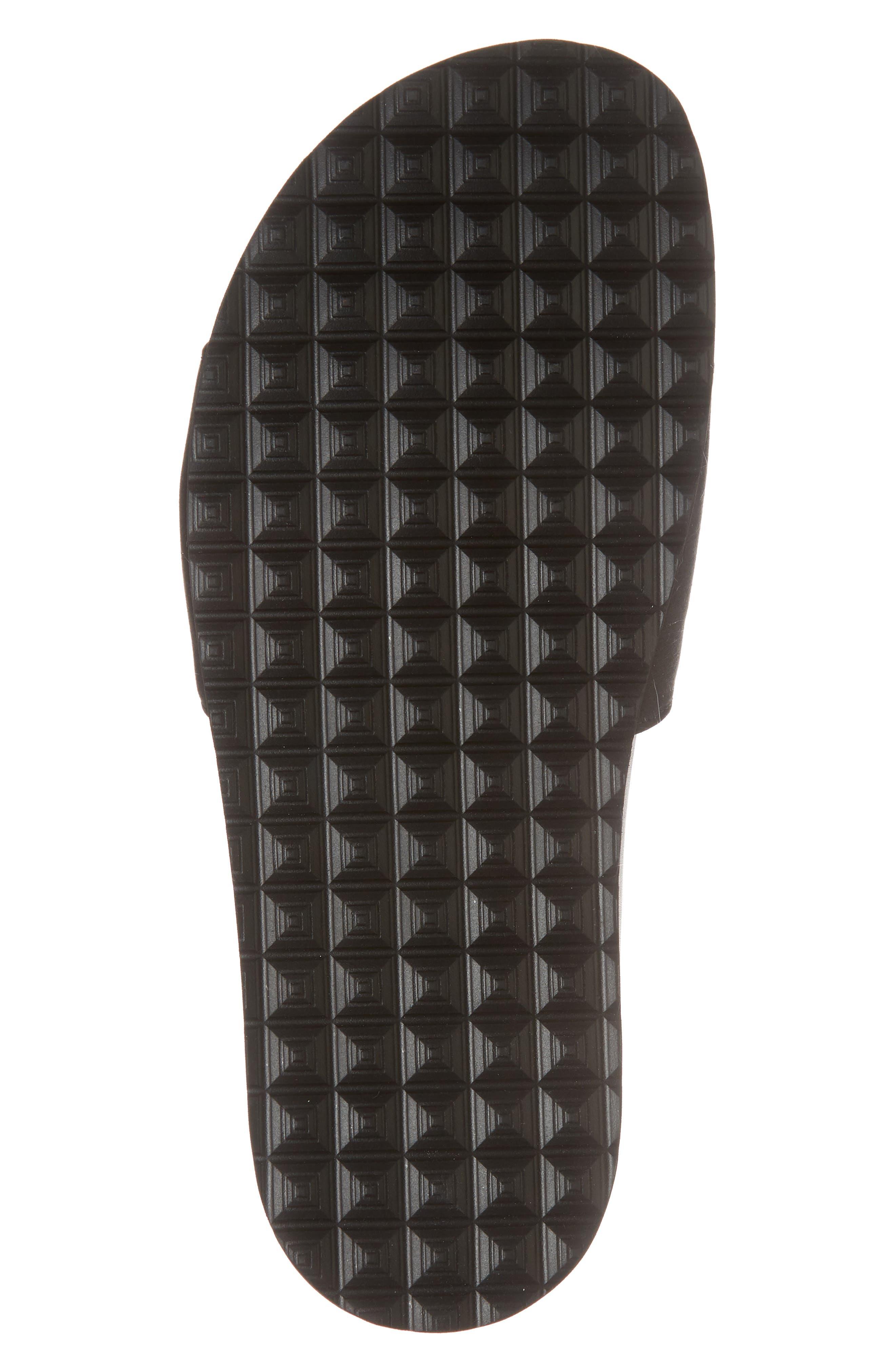 Satin Slide Sandal,                             Alternate thumbnail 6, color,                             BLACK