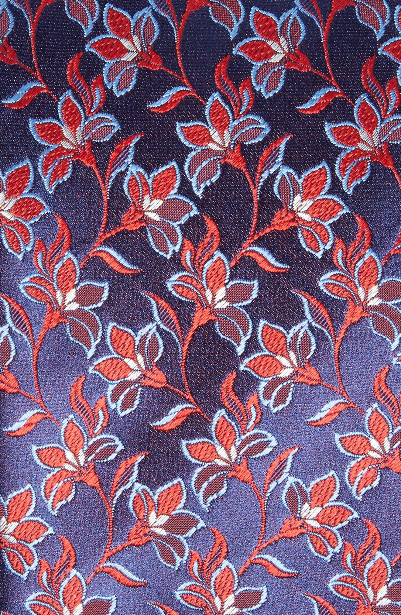 Floral Silk Tie,                             Alternate thumbnail 2, color,                             401
