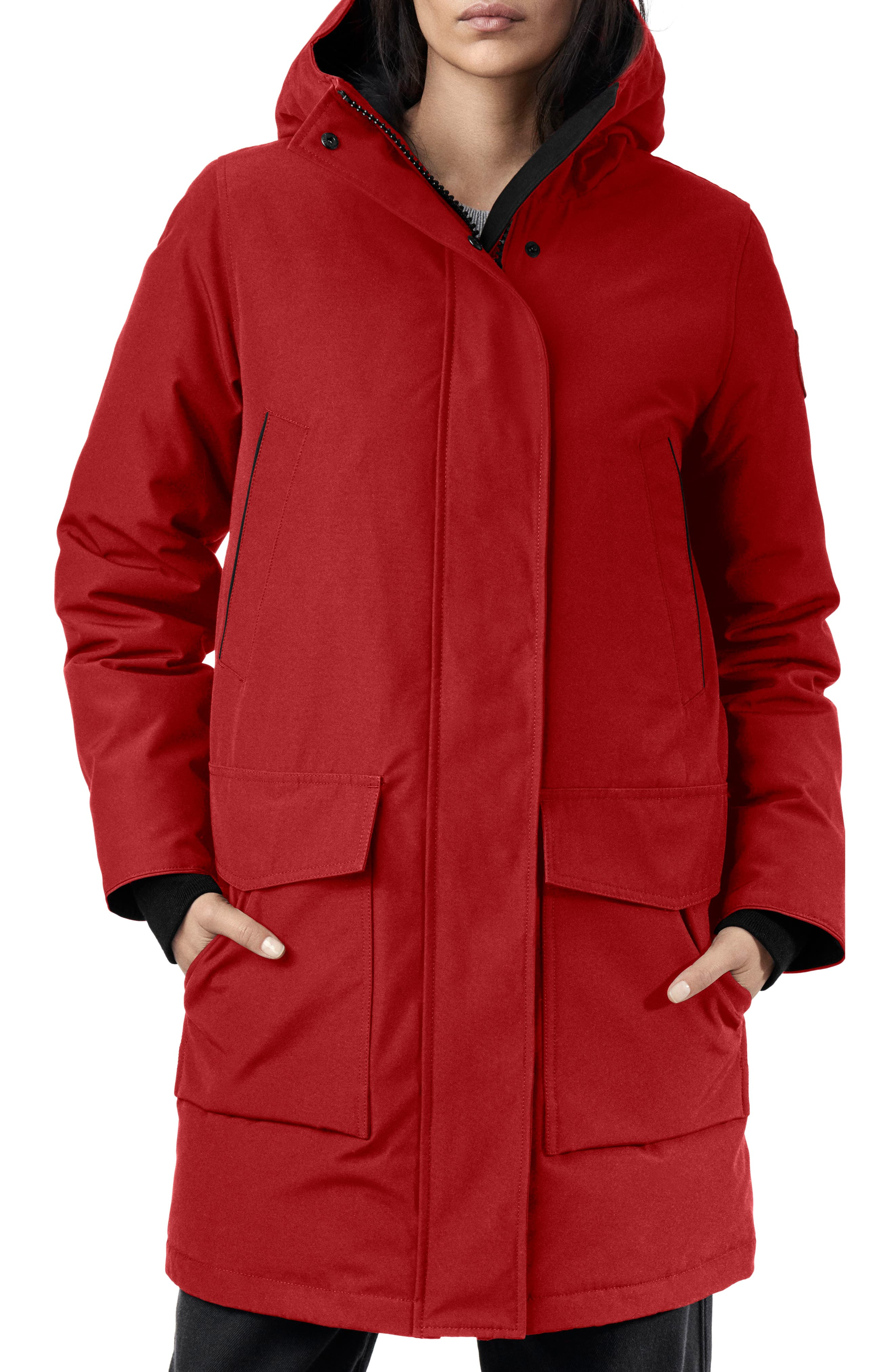 Canada Goose Canmore 625 Fill Power Down Parka, (10-12) - Red