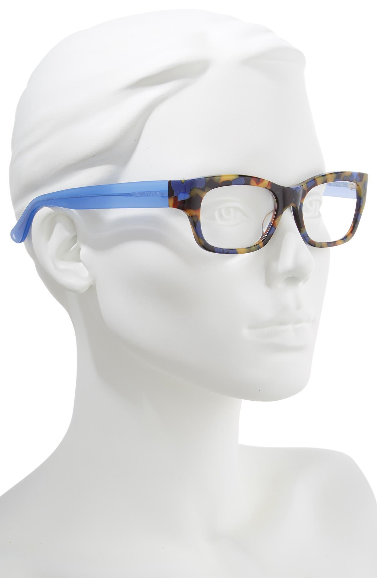 Suzy 51mm Reading Glasses,                             Alternate thumbnail 2, color,                             TORTOISE BLUE