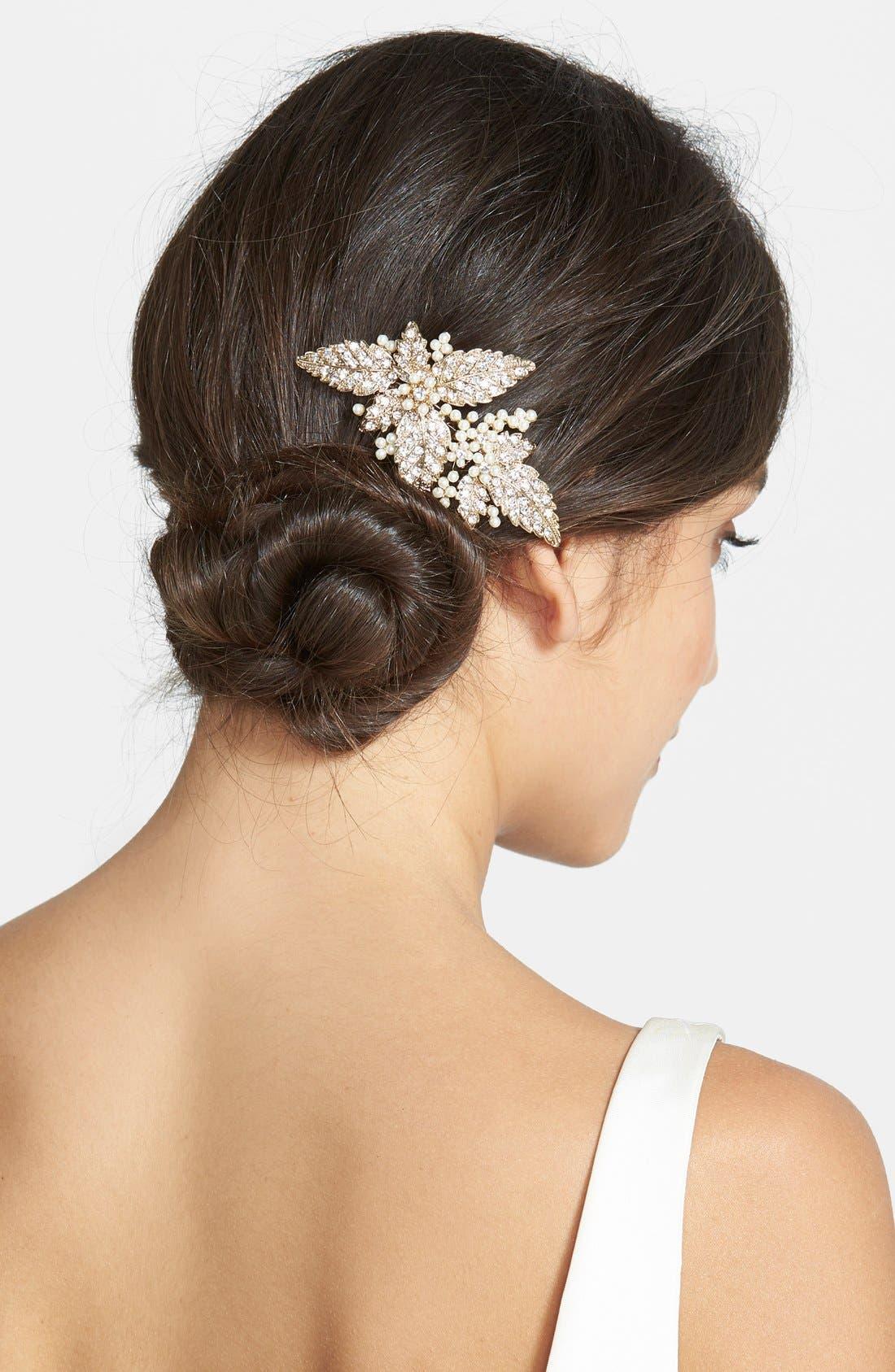 Glass Pearl Hair Comb,                             Main thumbnail 3, color,