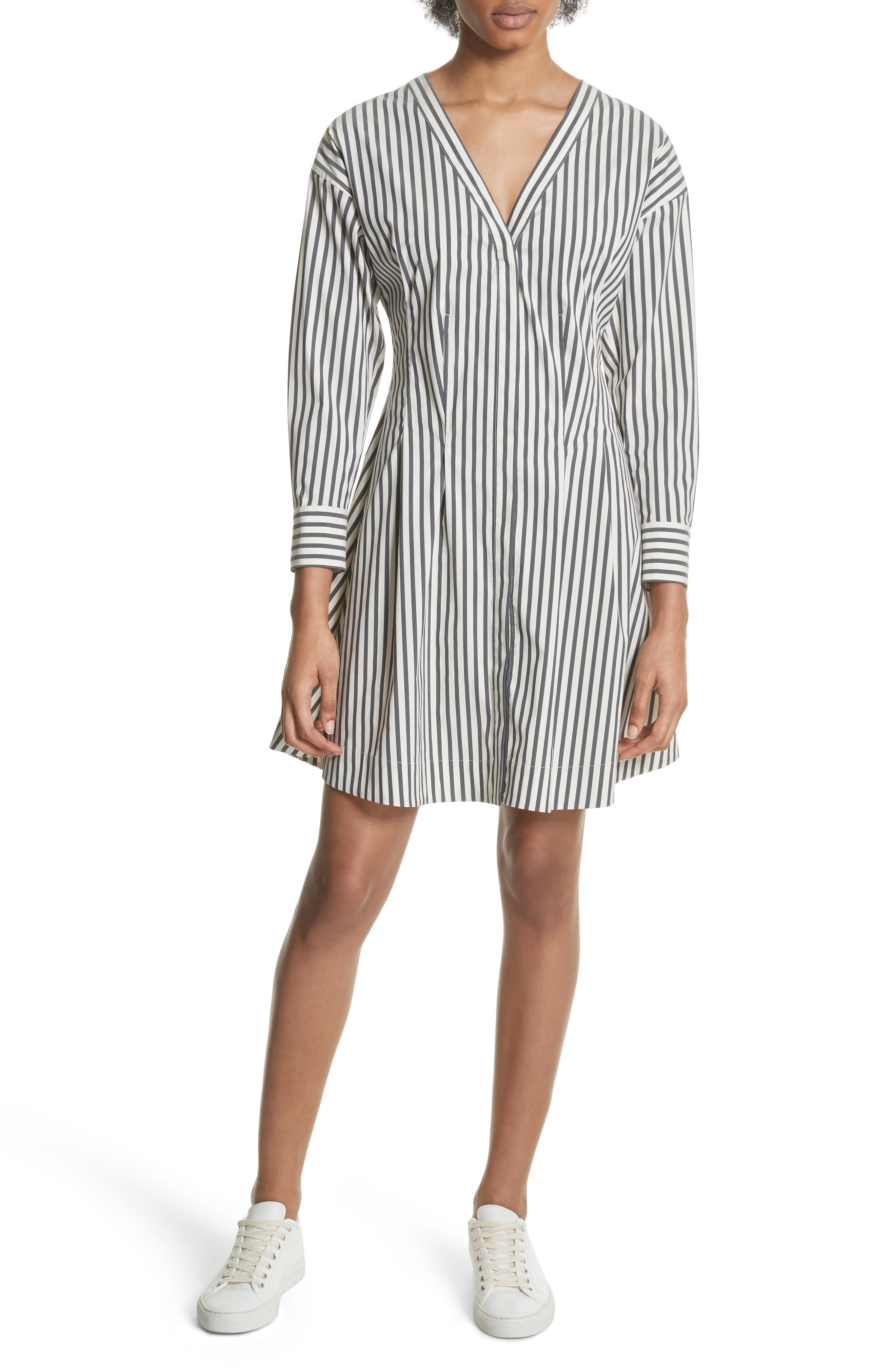Stripe Shirtdress,                             Main thumbnail 1, color,