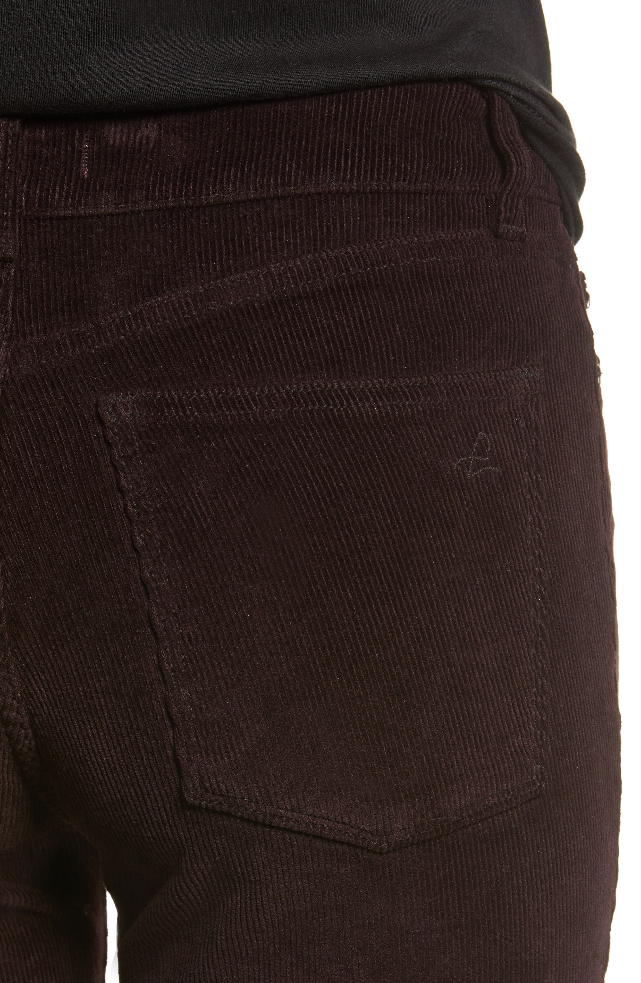 Farrow High Waist Ankle Skinny Corduroy Pants,                             Alternate thumbnail 4, color,                             BIRCH LAKE