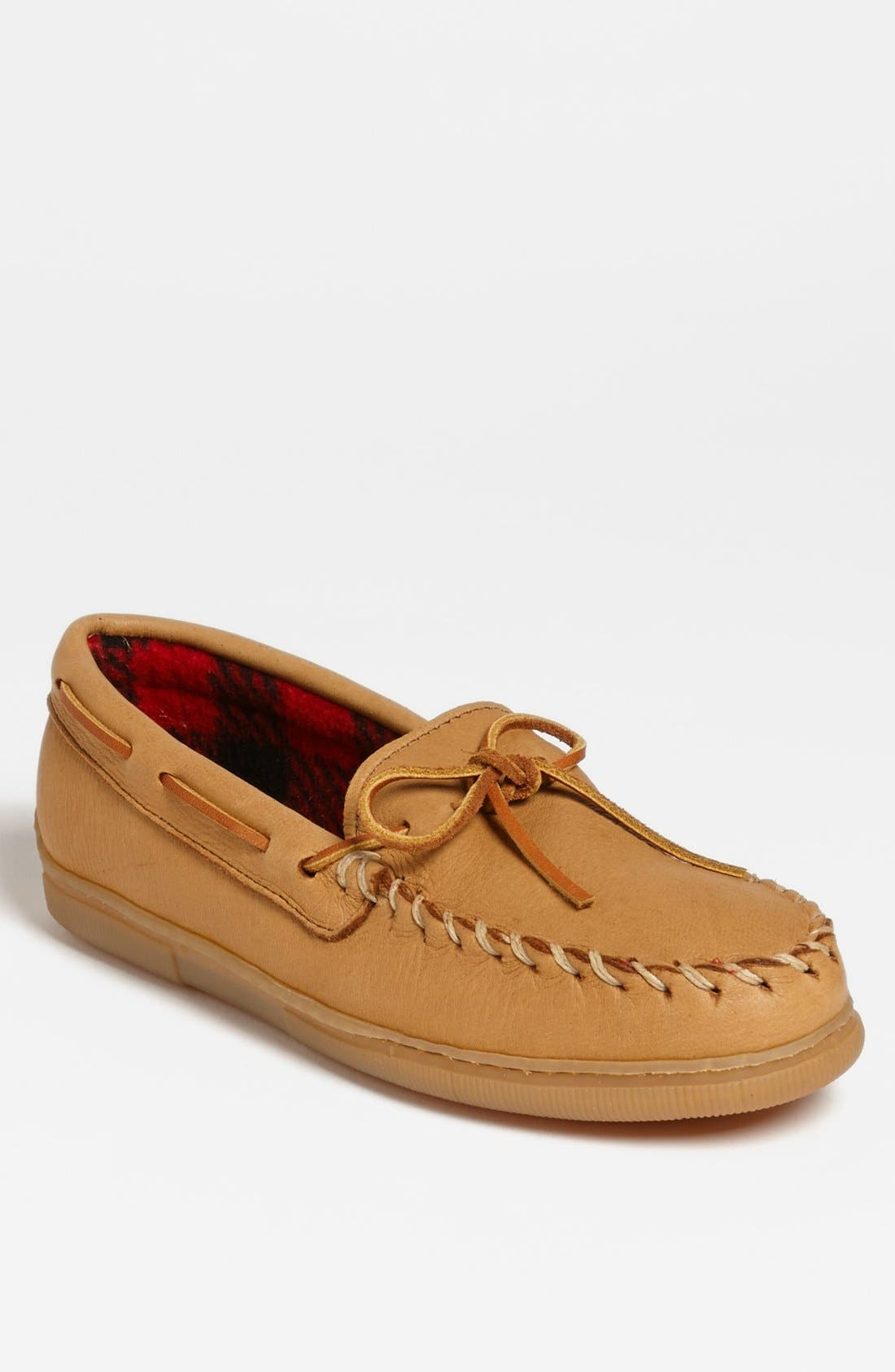 Moosehide Moccasin,                             Main thumbnail 1, color,                             NATURAL MOOSE