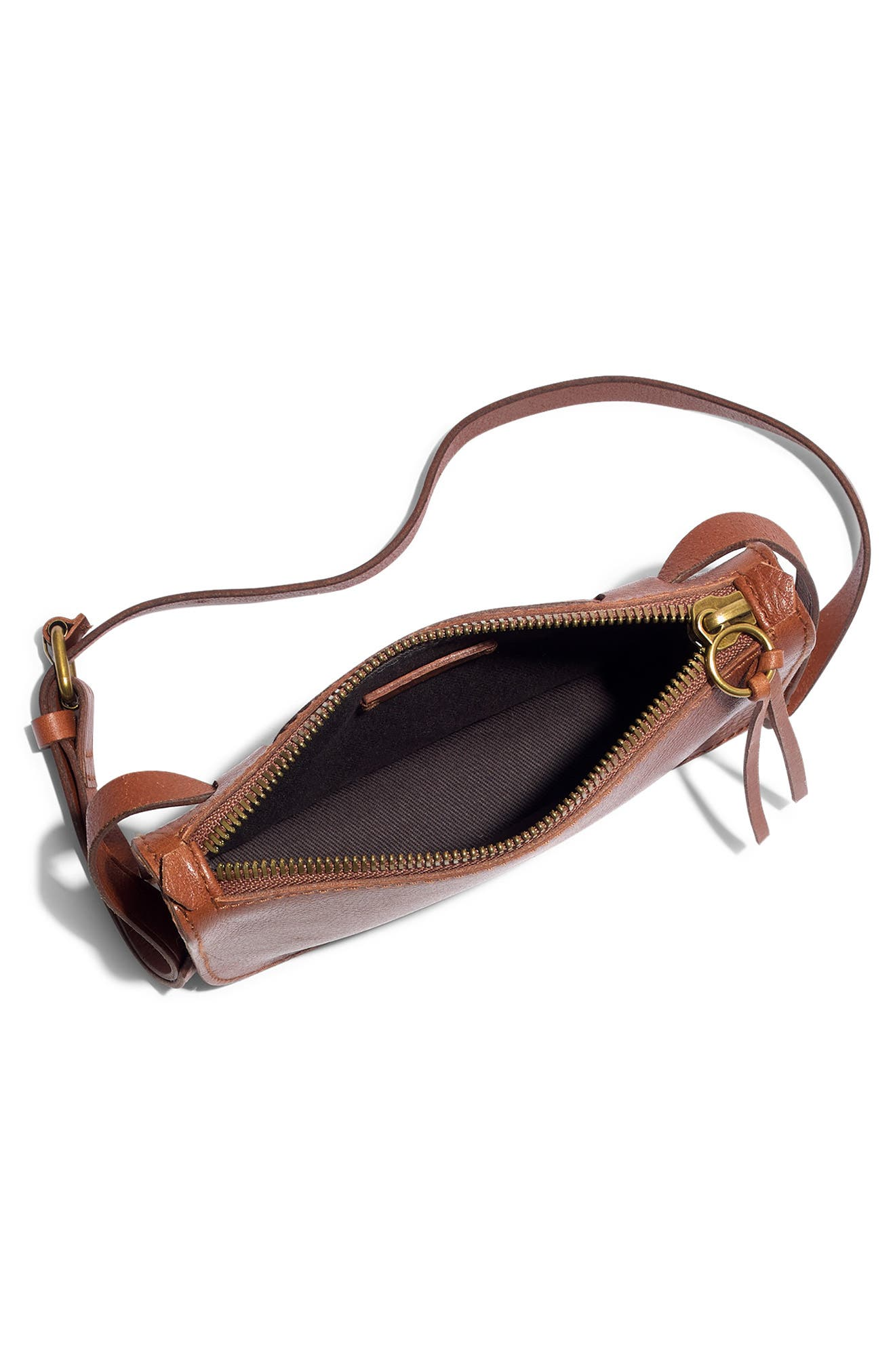 The Simple Pouch Belt Bag,                             Alternate thumbnail 5, color,                             ENGLISH SADDLE