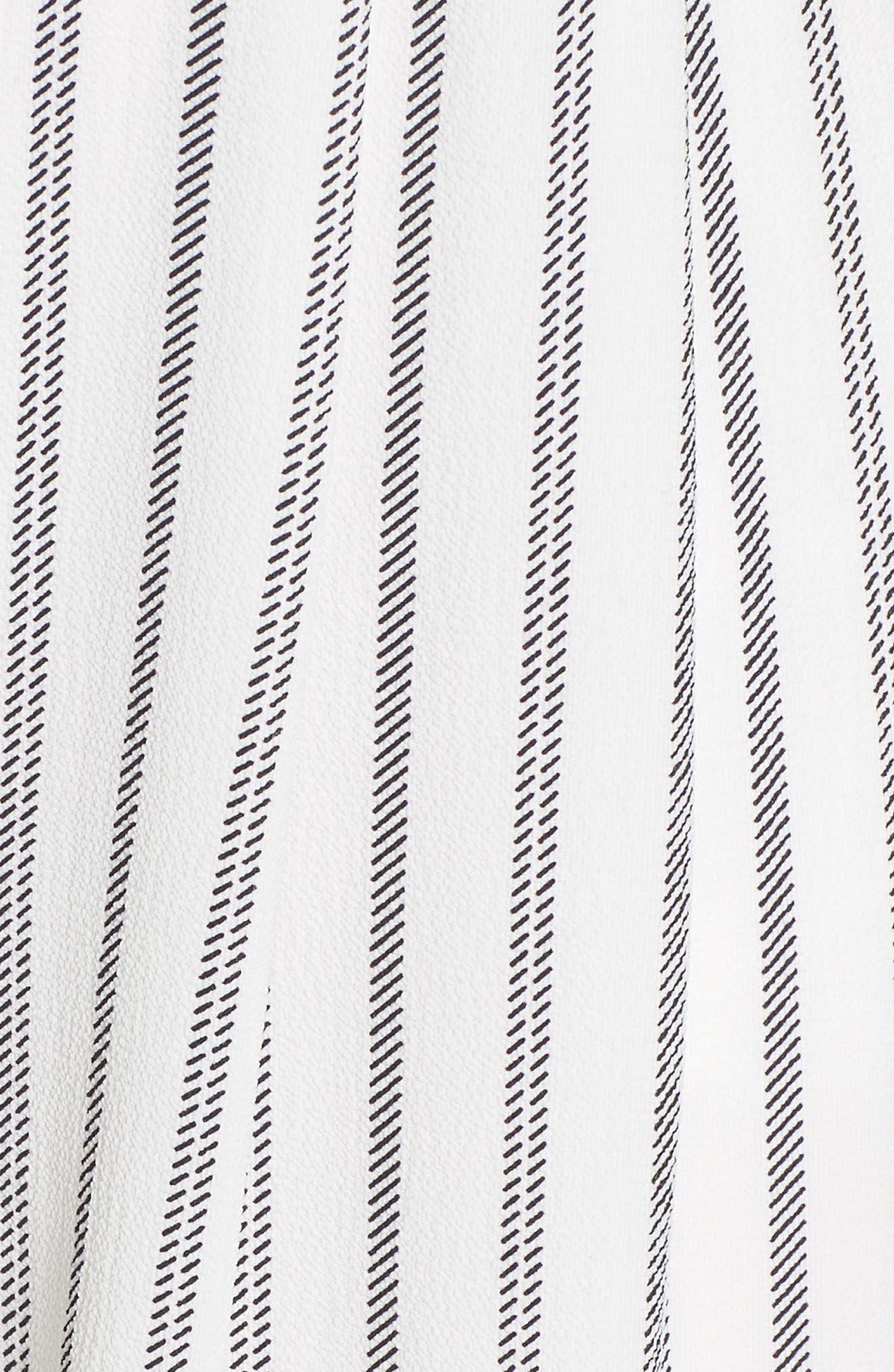 Stripe Crepe Crop Jumpsuit,                             Alternate thumbnail 6, color,                             115
