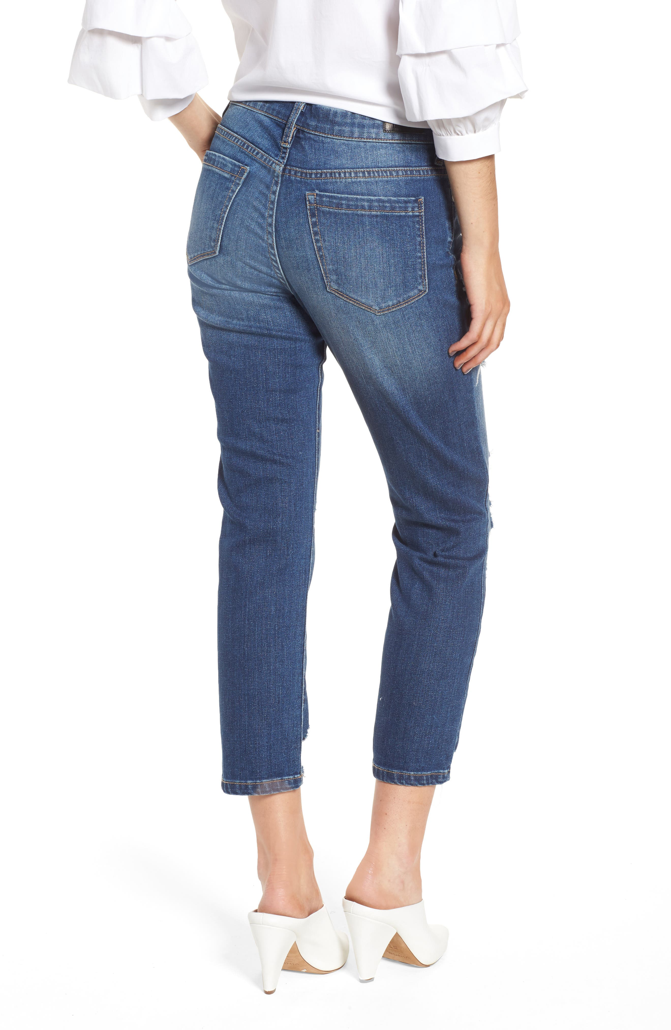 Your Favorite Distressed Straight Jeans,                             Alternate thumbnail 2, color,                             400