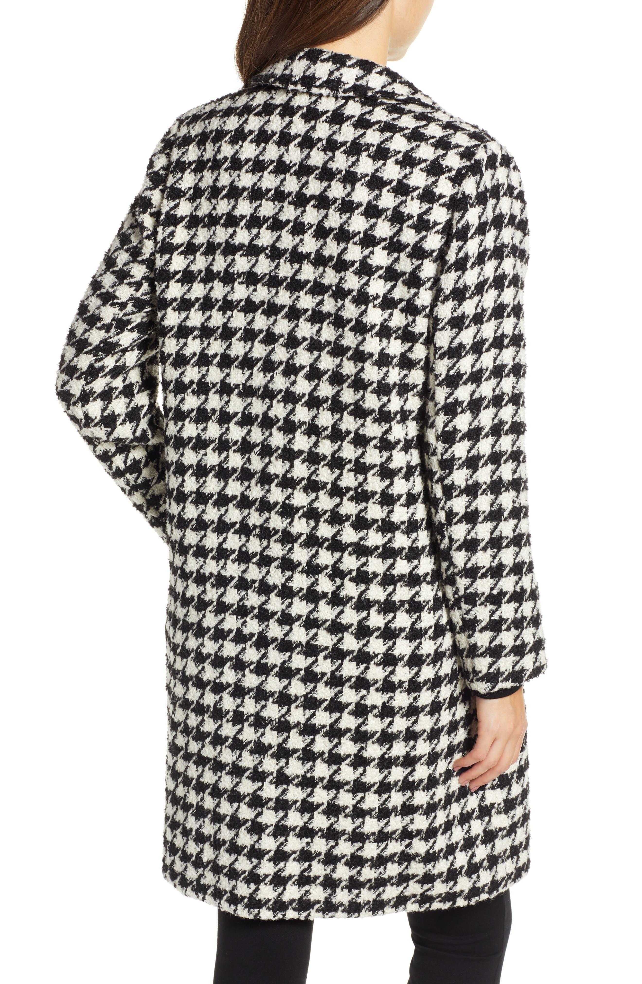 Houndstooth Coat,                             Alternate thumbnail 2, color,                             001