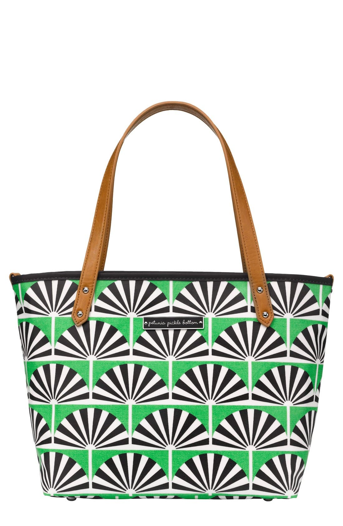 'Downtown Mini' Coated Canvas Diaper Tote,                             Main thumbnail 3, color,