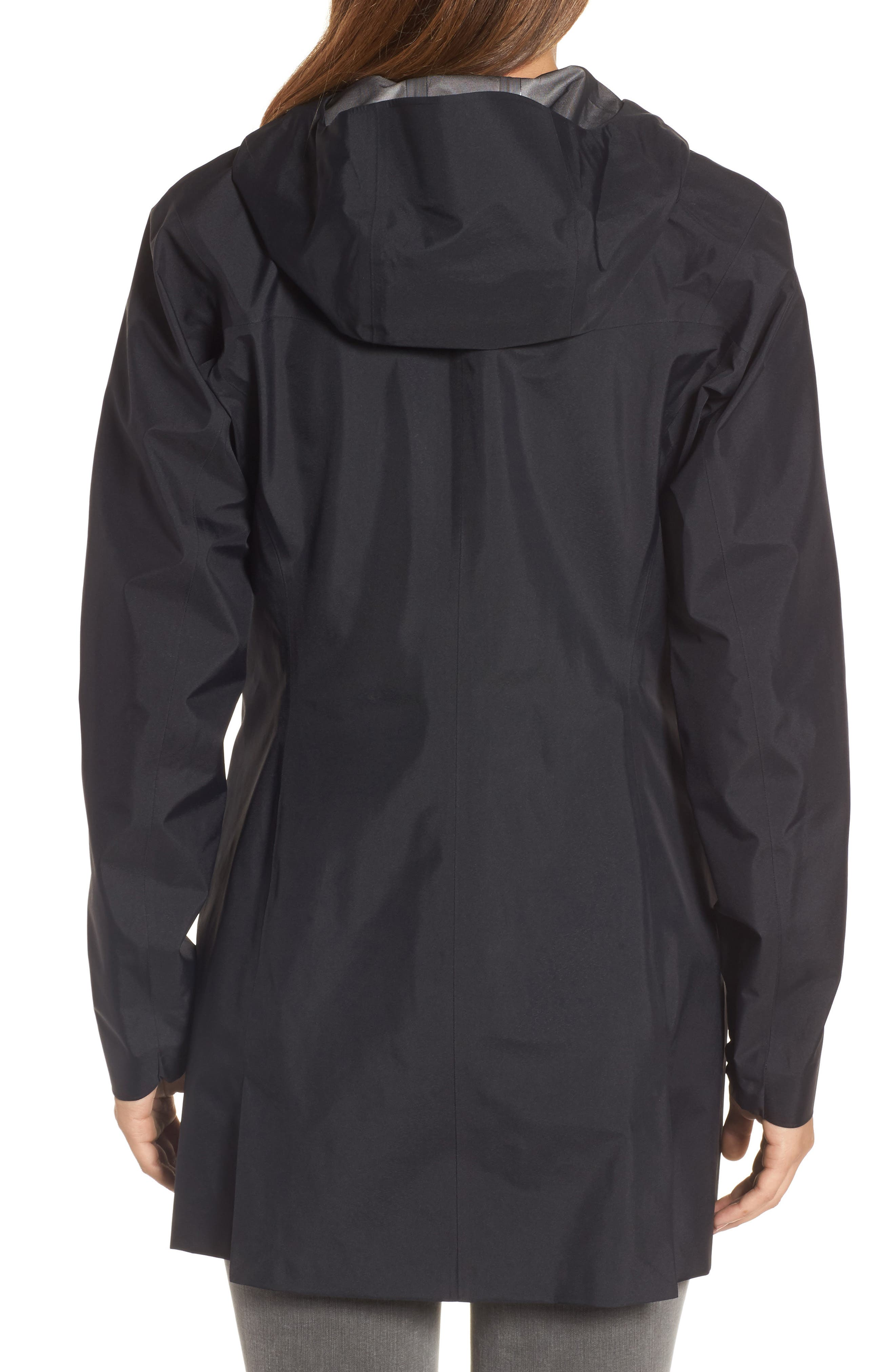 'Codetta' Waterproof Relaxed Fit Gore-Tex<sup>®</sup> 3L Rain Jacket,                             Alternate thumbnail 2, color,                             001