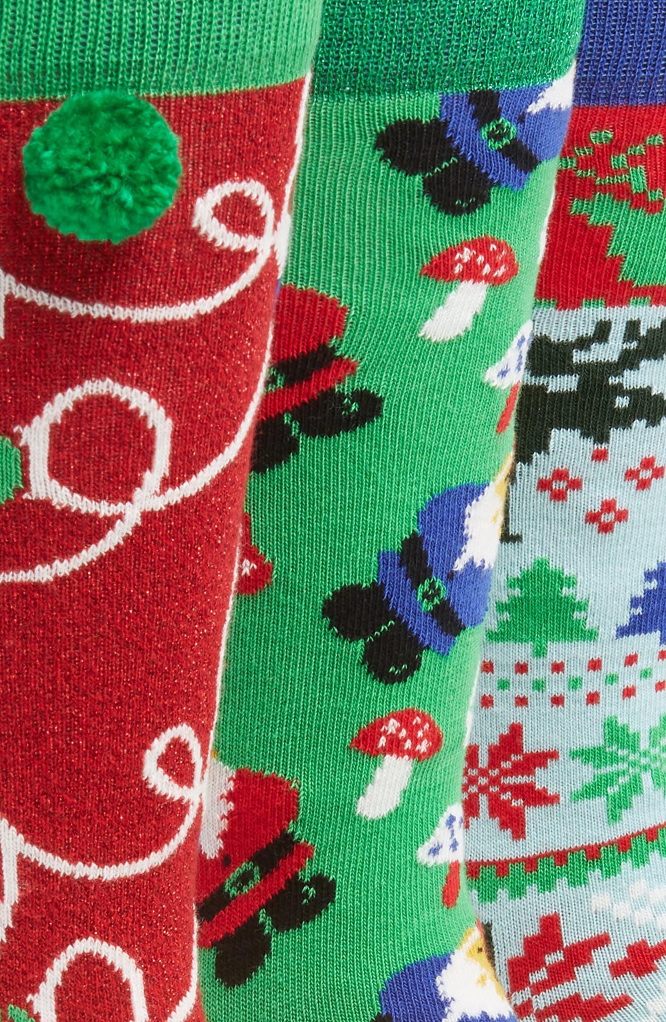 Holiday 3-Pack Socks Boxed Set,                             Alternate thumbnail 2, color,                             312